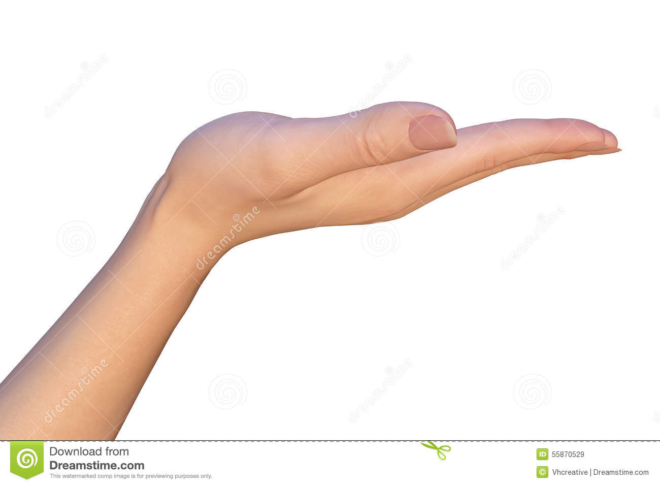 null hand ouvert