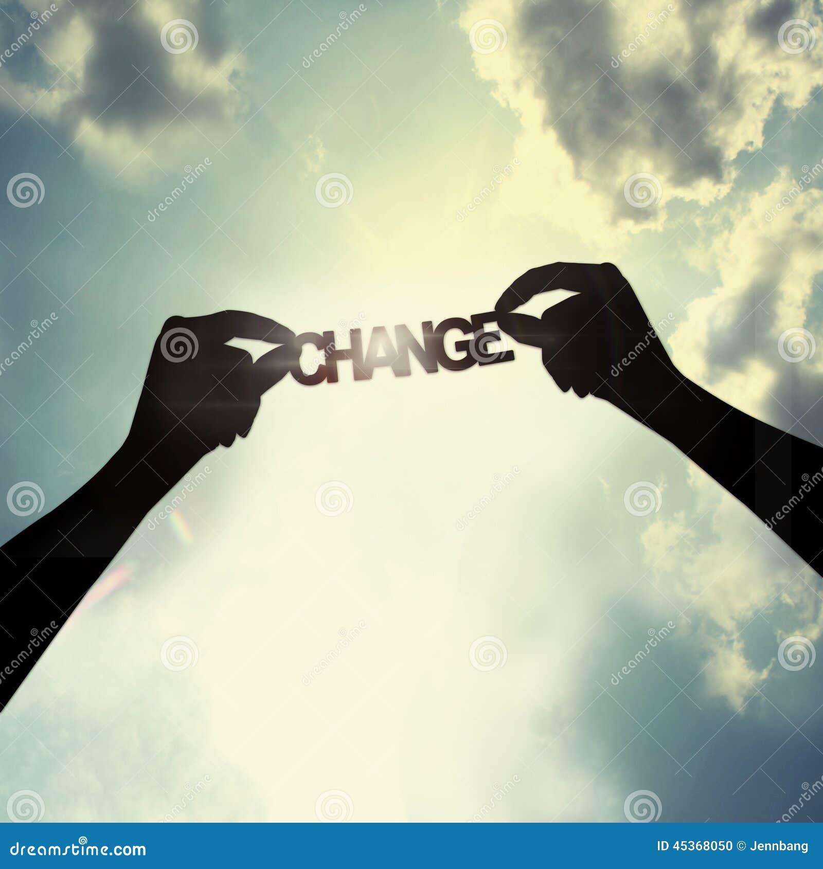Tenir le changement du ciel