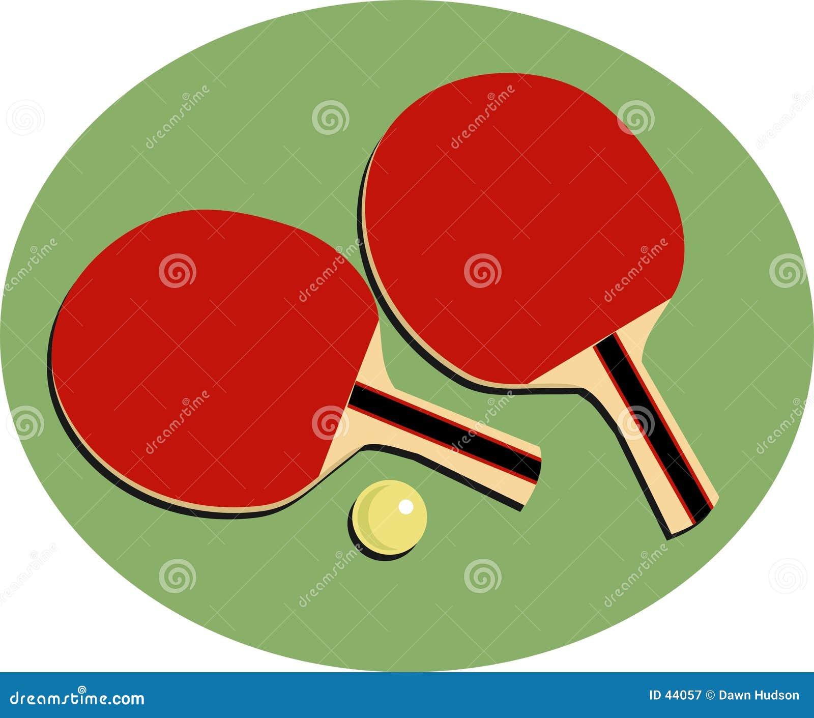 Download Tenis stołowy ilustracja wektor. Ilustracja złożonej z objurgate - 44057