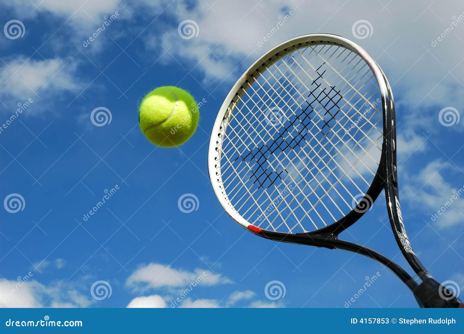 Tennis in action