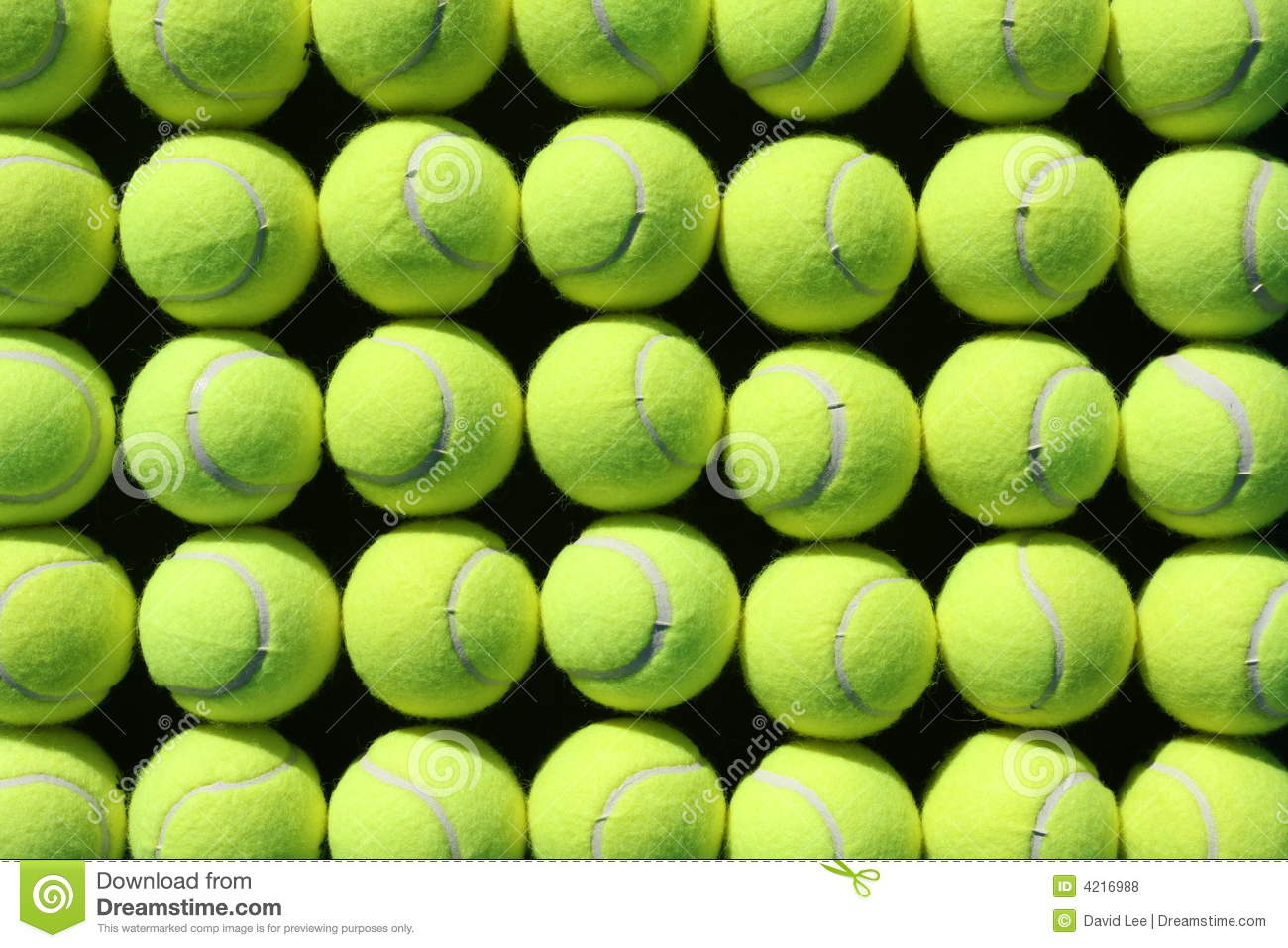 Rows of tennis balls for background or wallpaper.