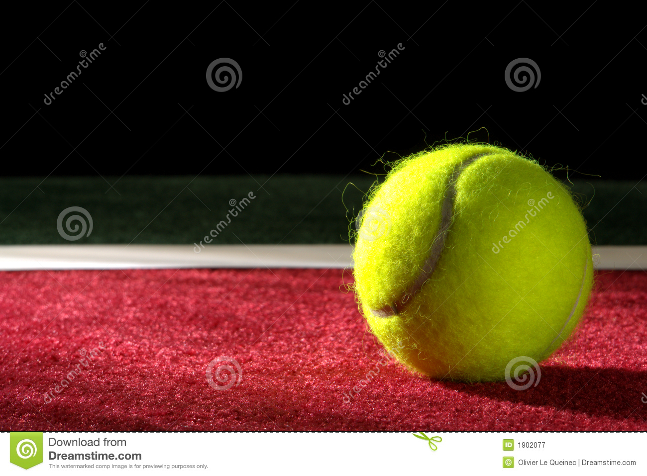 Tennis Ball On A Court Royalty Free Stock Photography - Image: 1902077