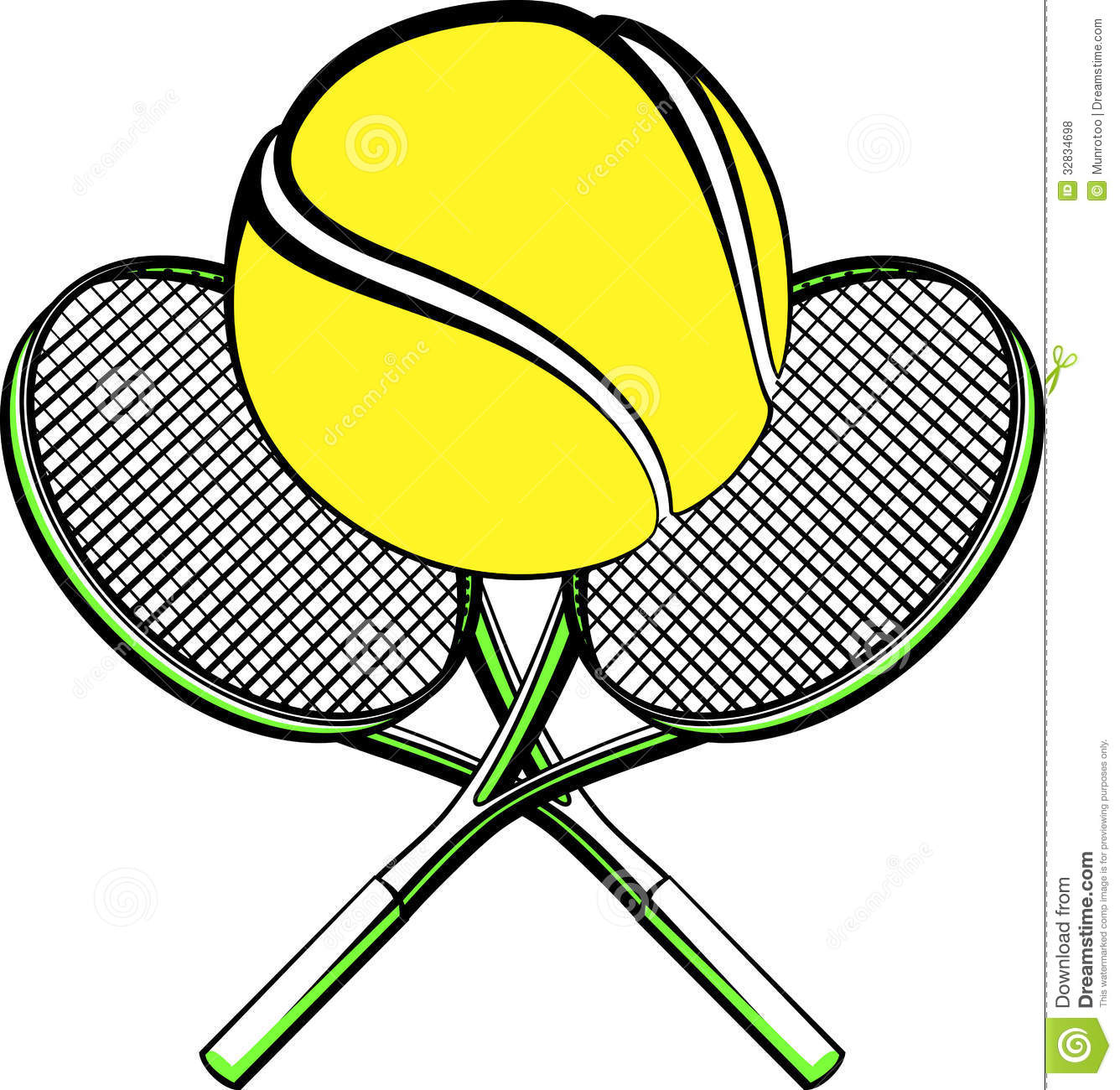 Tennis Ball With Crossed Rackets Royalty Free Stock Photos - Image ...