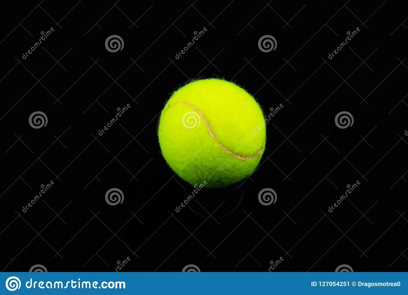 Tennis ball.Isolated.Close Up Green