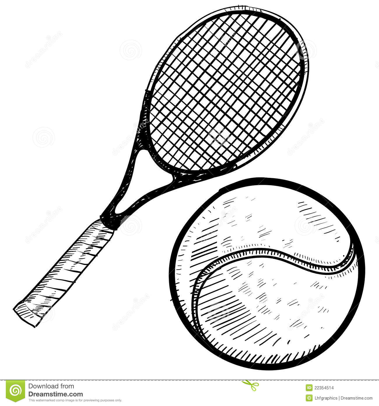 tennis ball and racquet sketch stock images image 22354514 tennis racquet clip art free tennis racket clip art b&w