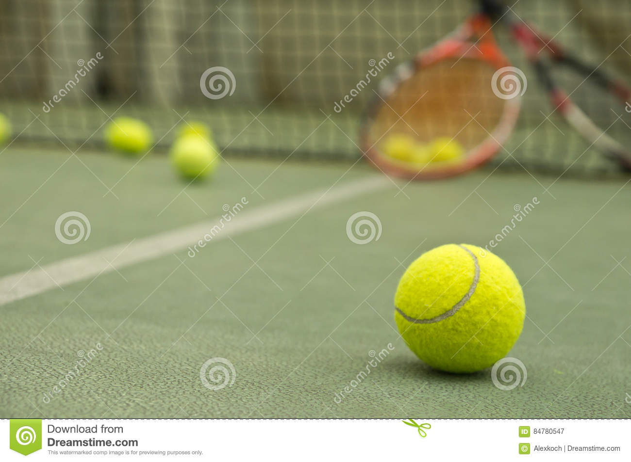 Tennis Ball Wallpaper Stock Image Of Court Sport