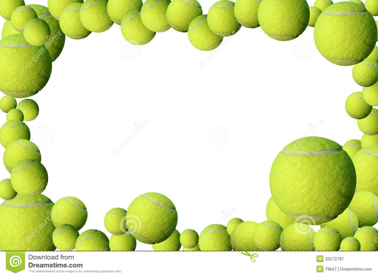 ... tennis balls and red heartframe with place for your text or design