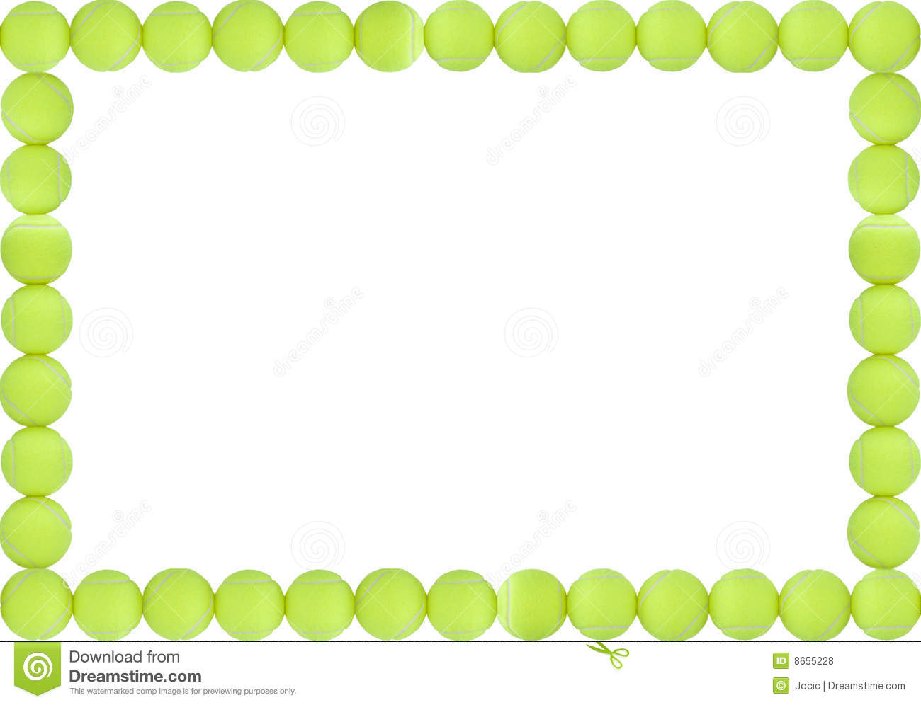 tennis balls frame stock illustration illustration of bead 8655228. Black Bedroom Furniture Sets. Home Design Ideas