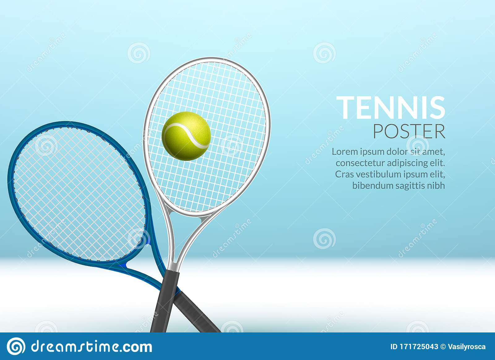 Tennis Banner Background Tennis Ball Racket Poster Sport Flyer Design Tournament Stock Vector Illustration Of Layout Abstract 171725043