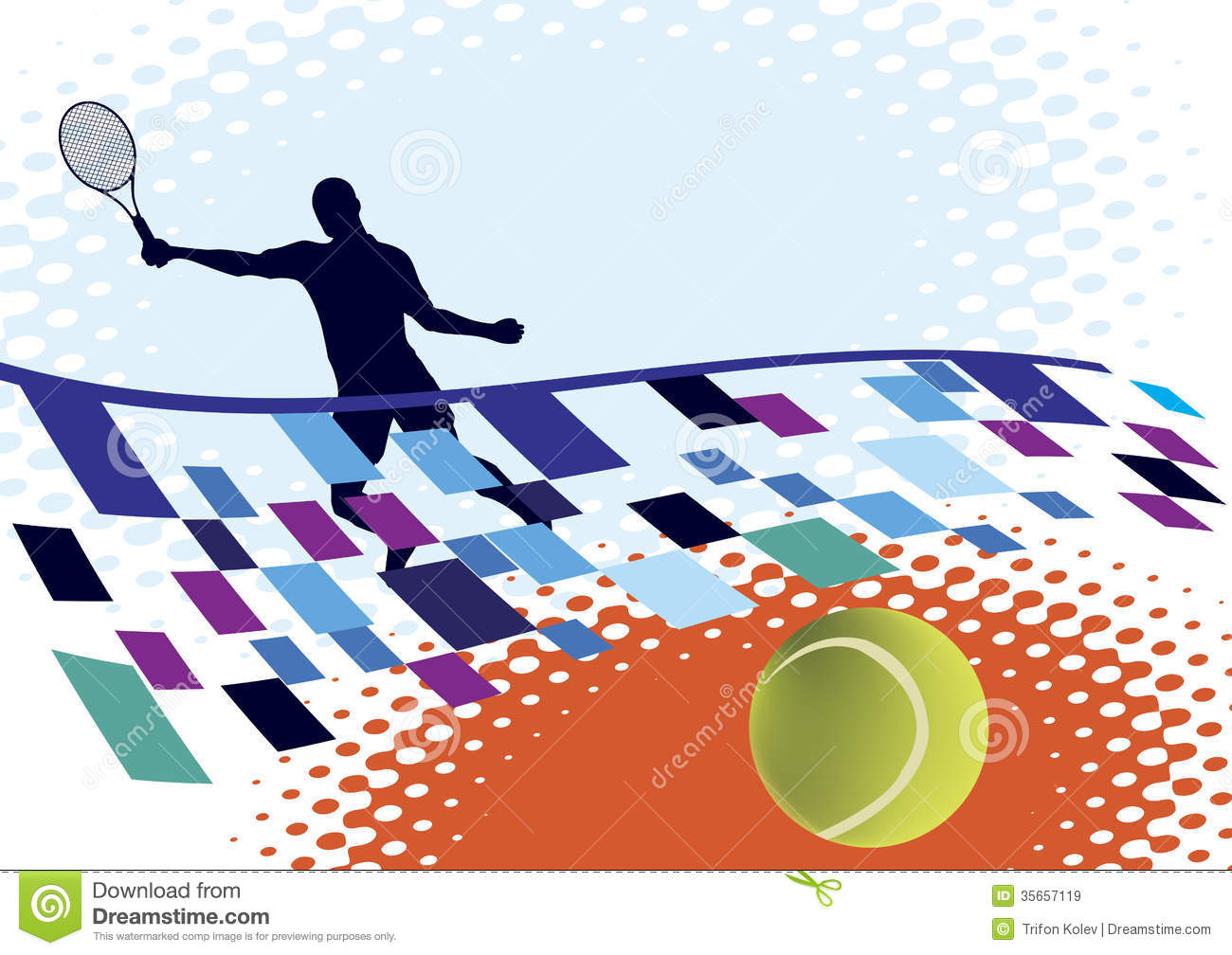 Abstract Sports Background Royalty Free Stock Image: Tennis Court Royalty Free Stock Images