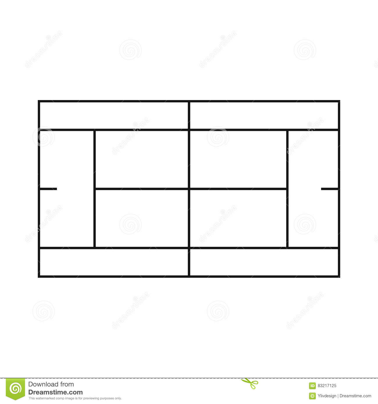 Tennis court diagram vector imgkid the image
