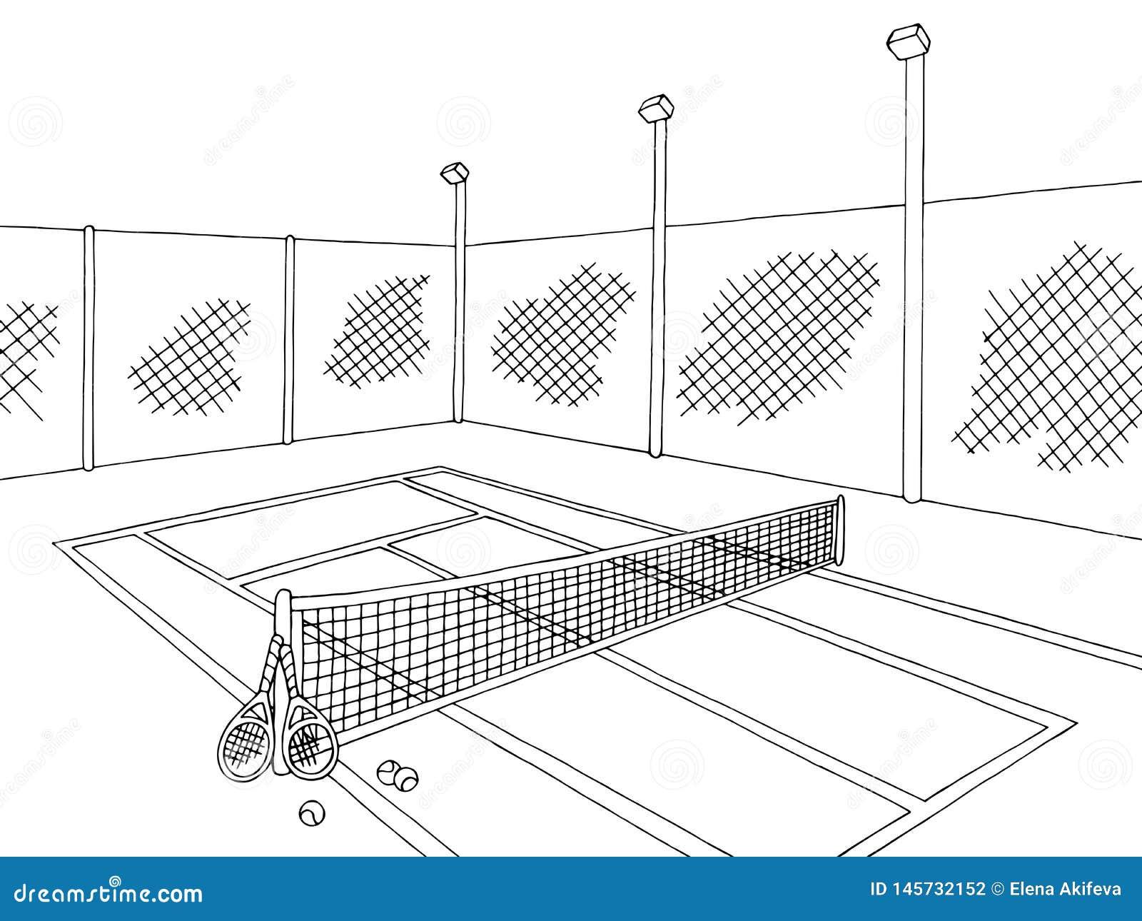 Tennis Sketch Stock Illustrations 2 828 Tennis Sketch Stock Illustrations Vectors Clipart Dreamstime