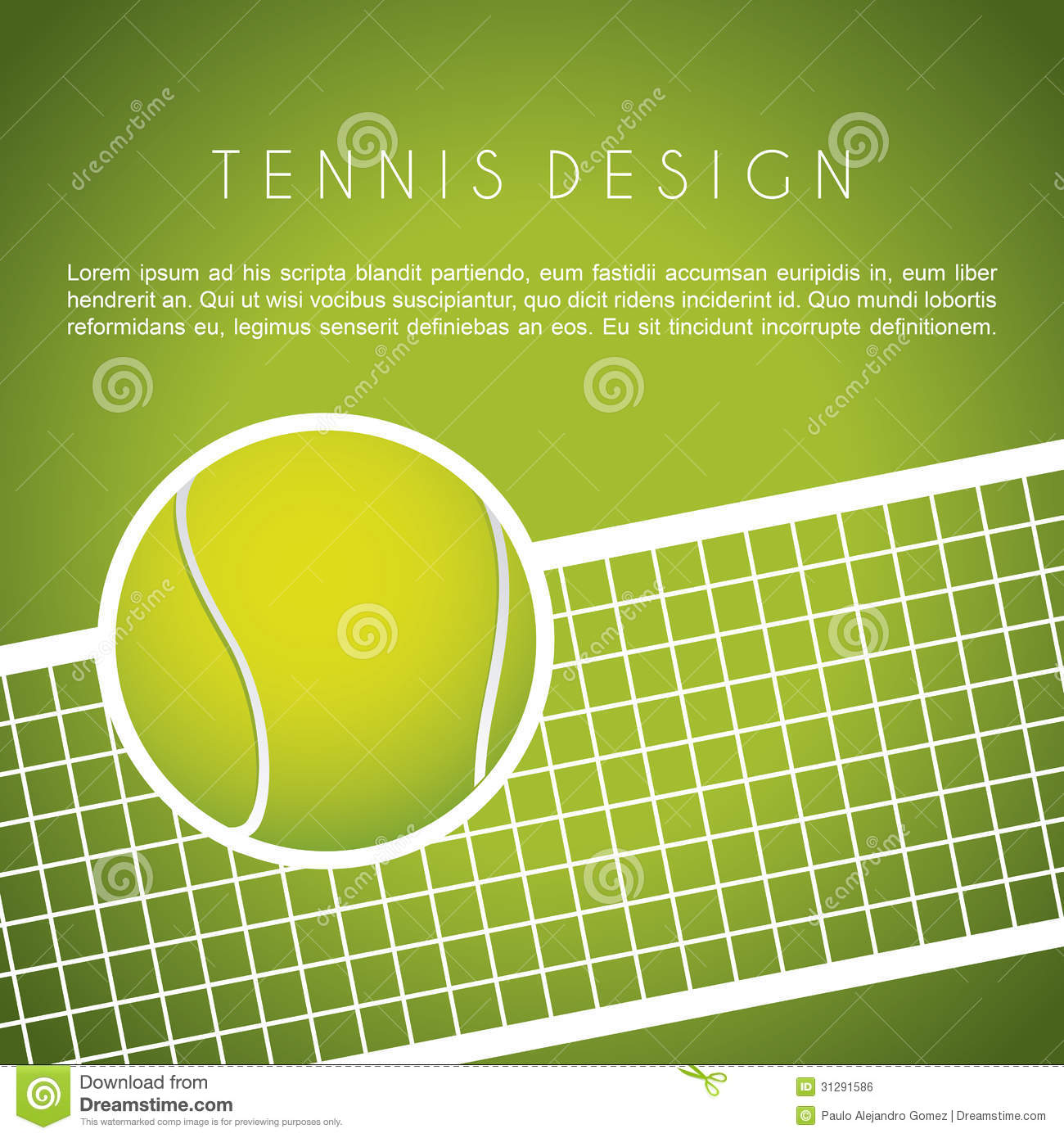Tennis Design Royalty Free Stock Image - Image: 31291586 Tennis Net Vector