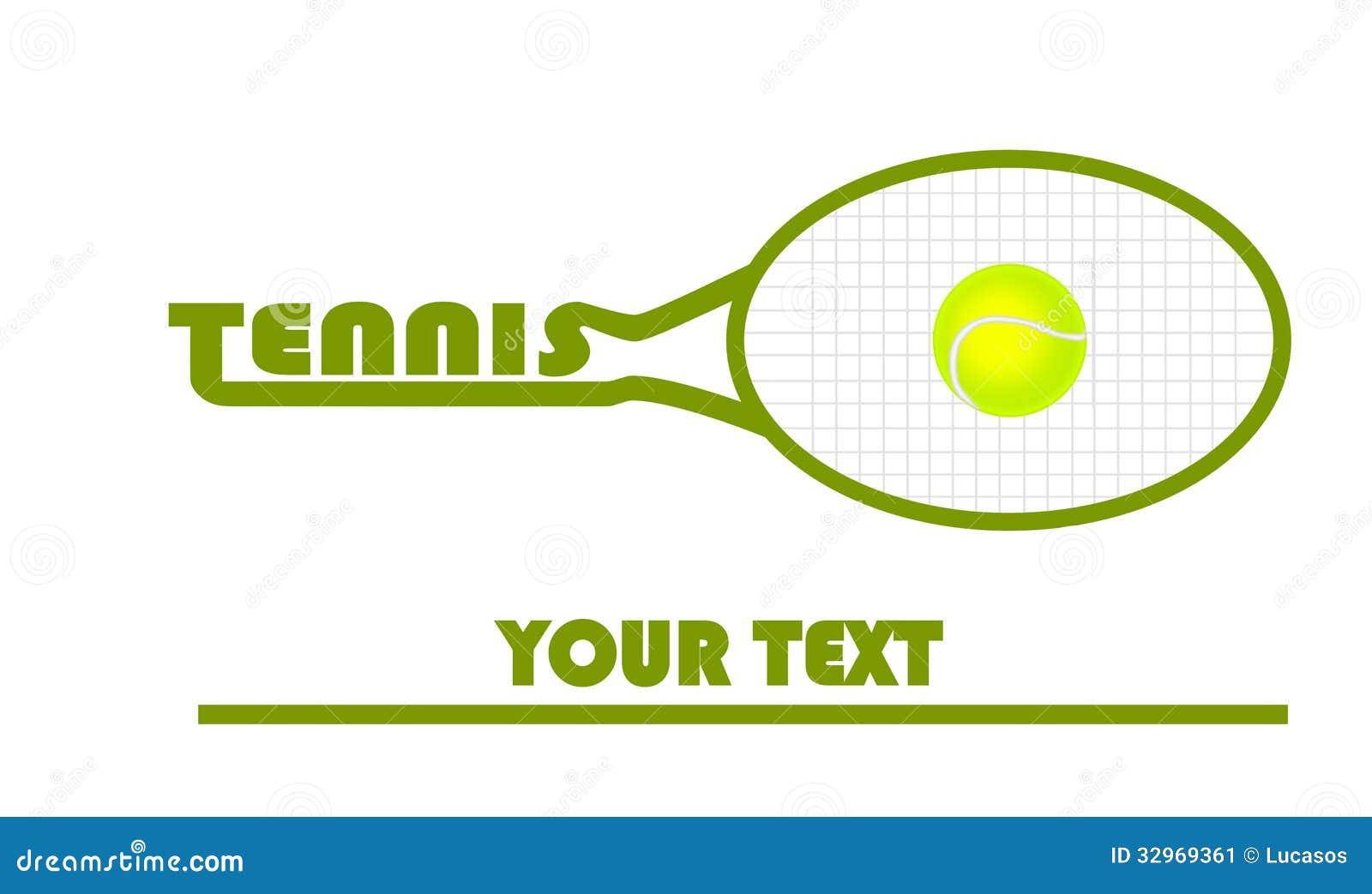 Tennis Logo With Tennis Ball Stock Image - Image: 32969361