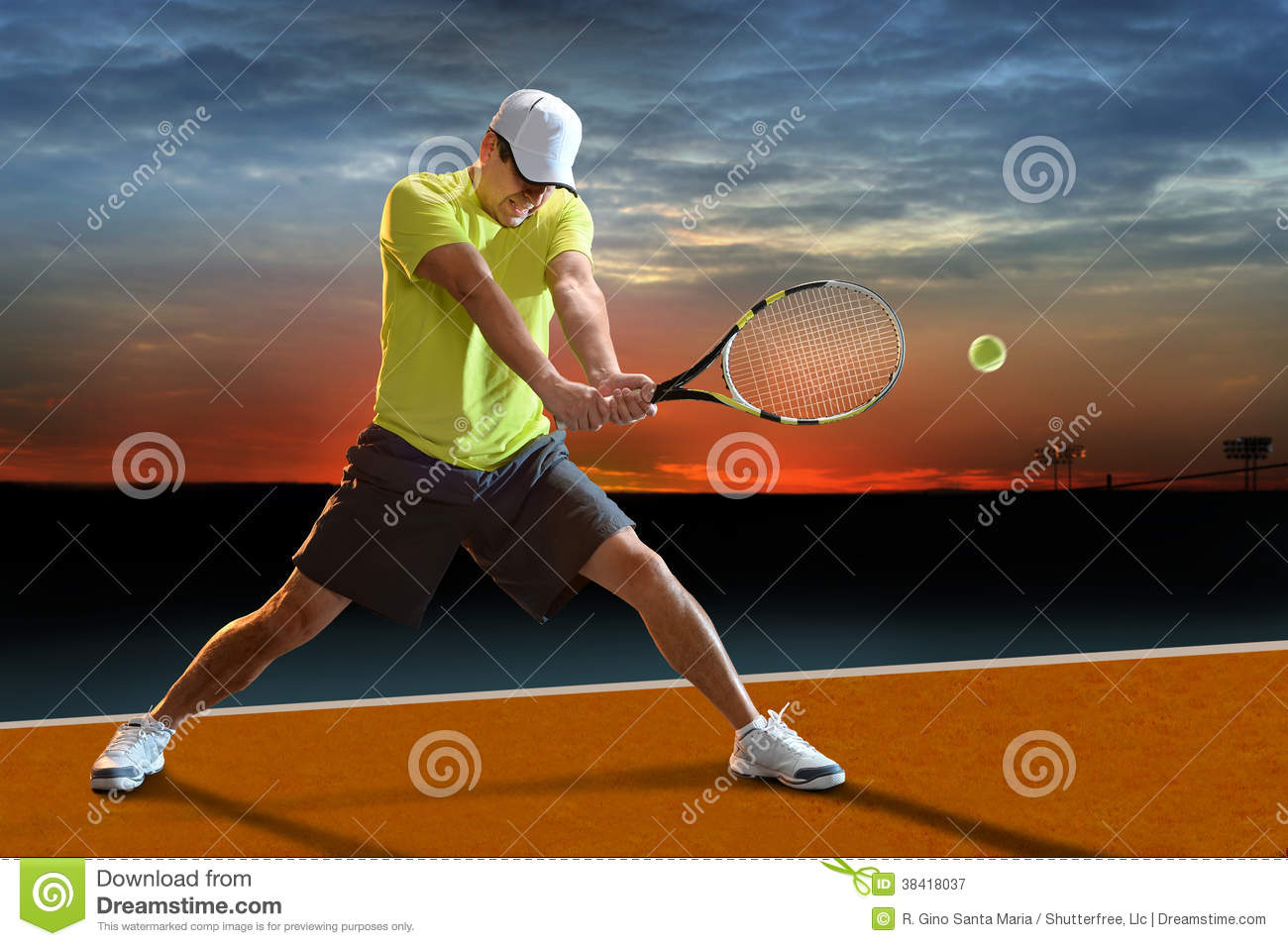 Tennis Player Outdoors Stock Image Image Of Court, Ball -7457