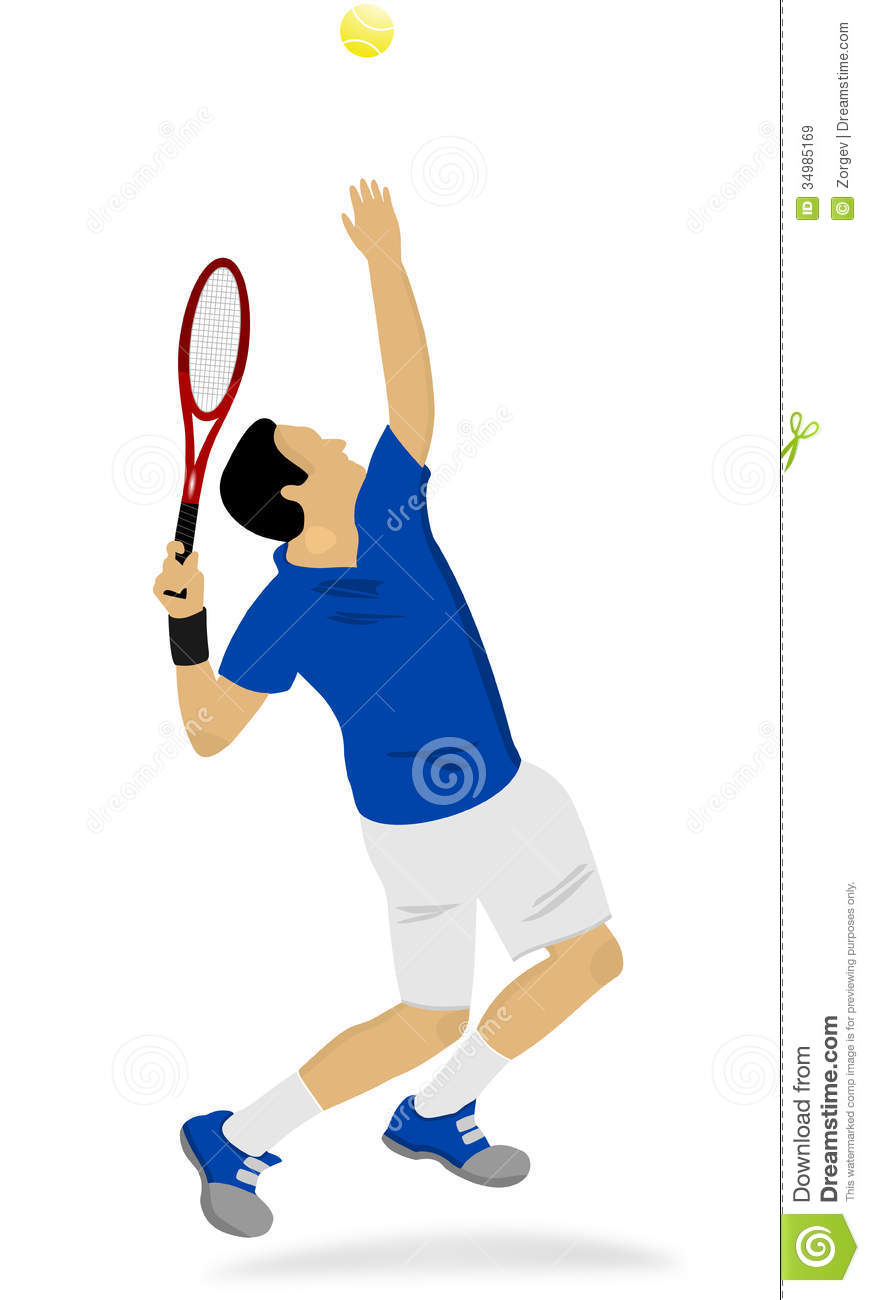 A Tennis Player Serving Royalty Free Stock Images - Image ...