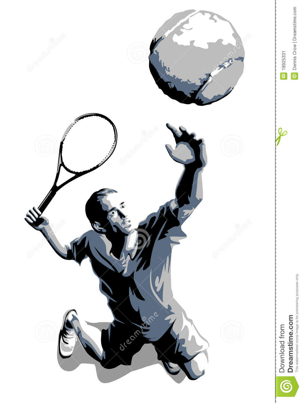 how to serve a tennis ball video