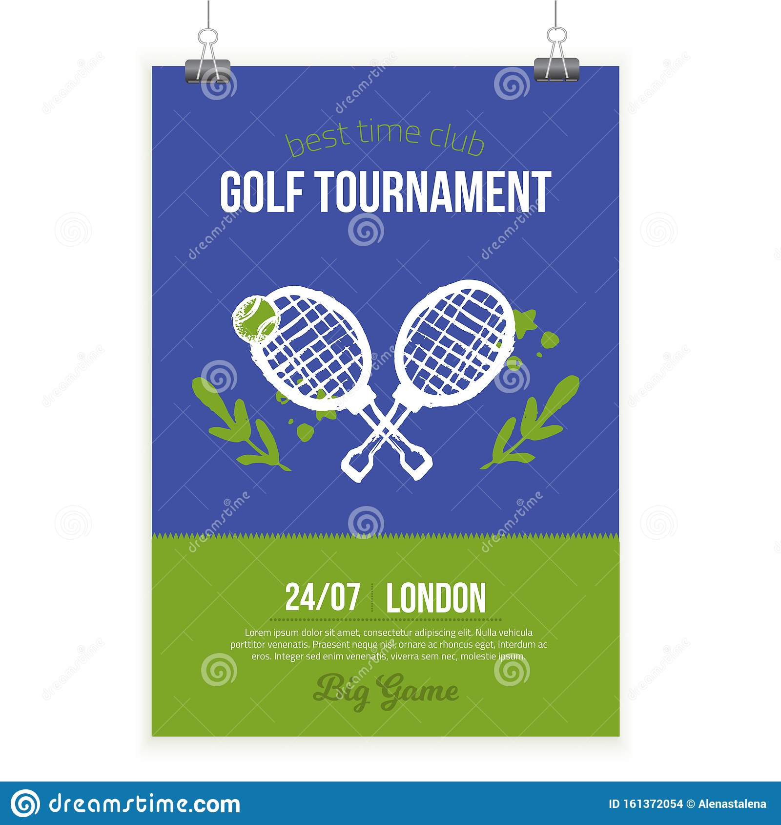 Tennis Lesson Flyer Template from thumbs.dreamstime.com
