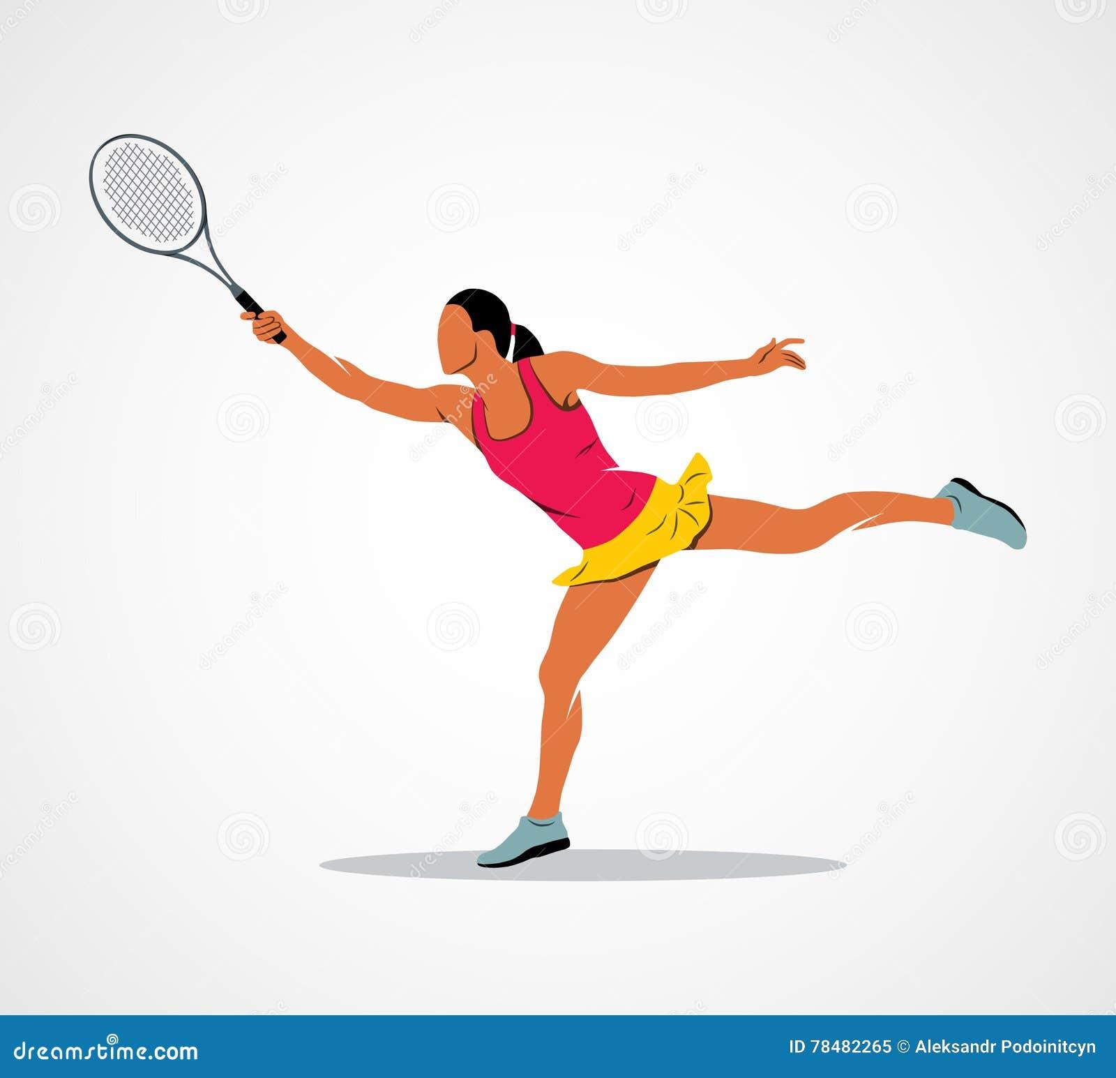 Tennis Racket Athlete Stock Vector Illustration Of Motion 78482265