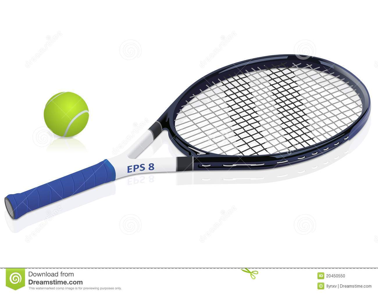 Tennis Racket And Ball Stock Vector Illustration Of Ball 20450550