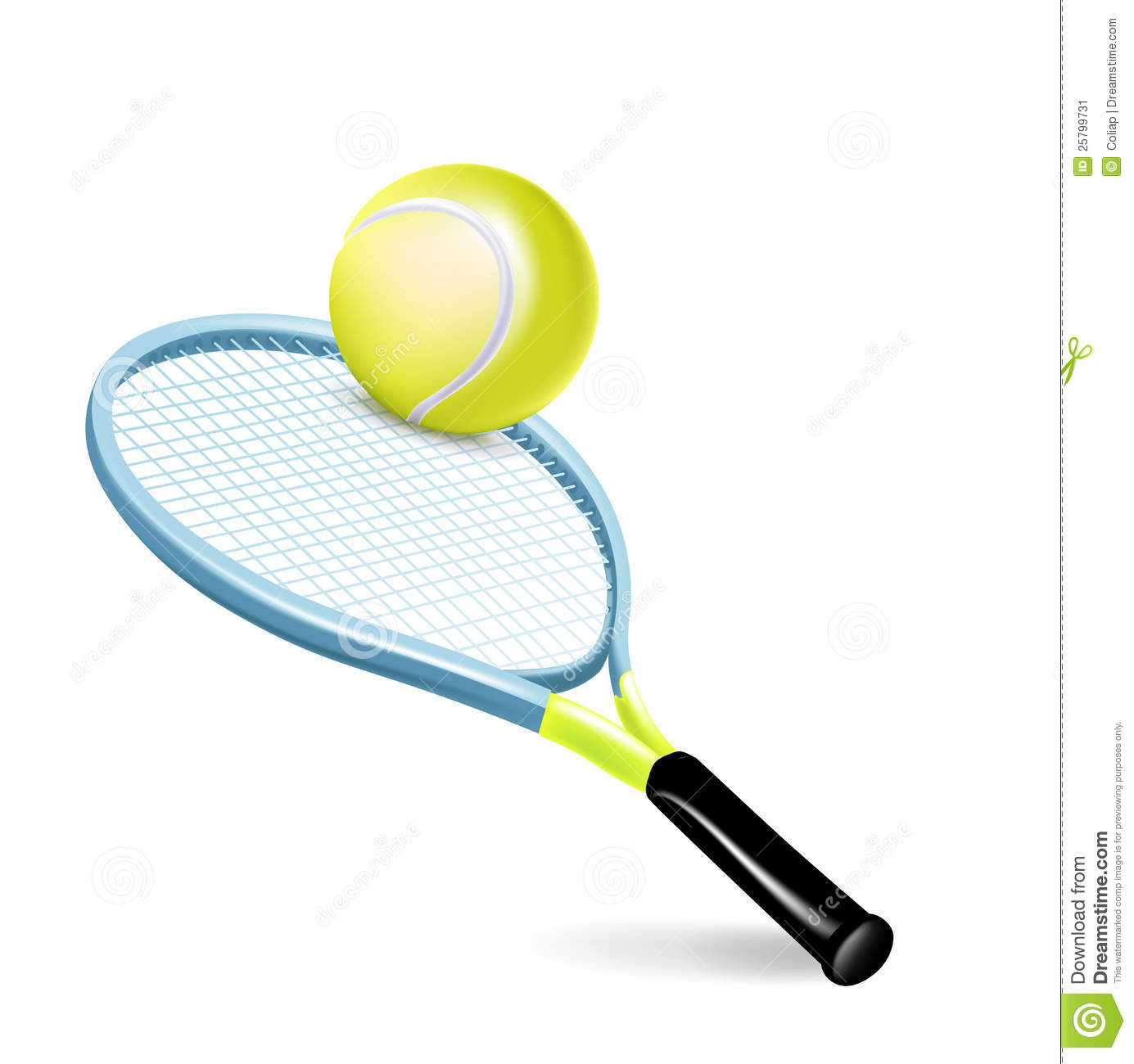 Tennis Racket With Ball Stock Image - Image: 25799731