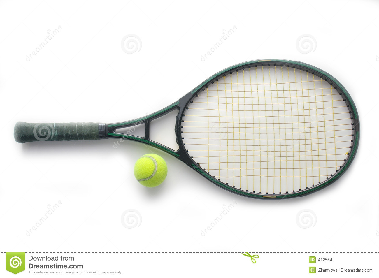 Tennis Racket And Ball Stock Images Image 412564