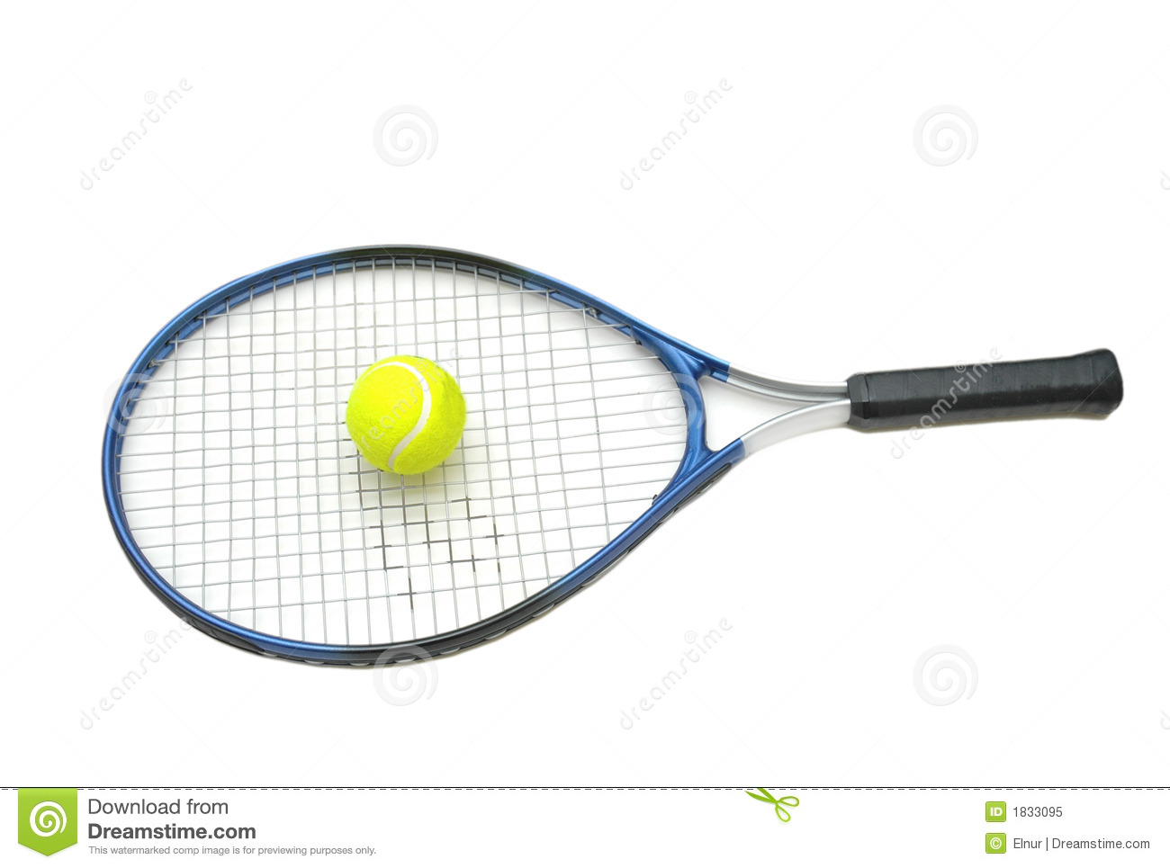 Tennis Racket And Ball Isolate Stock Image Image Of Fitness