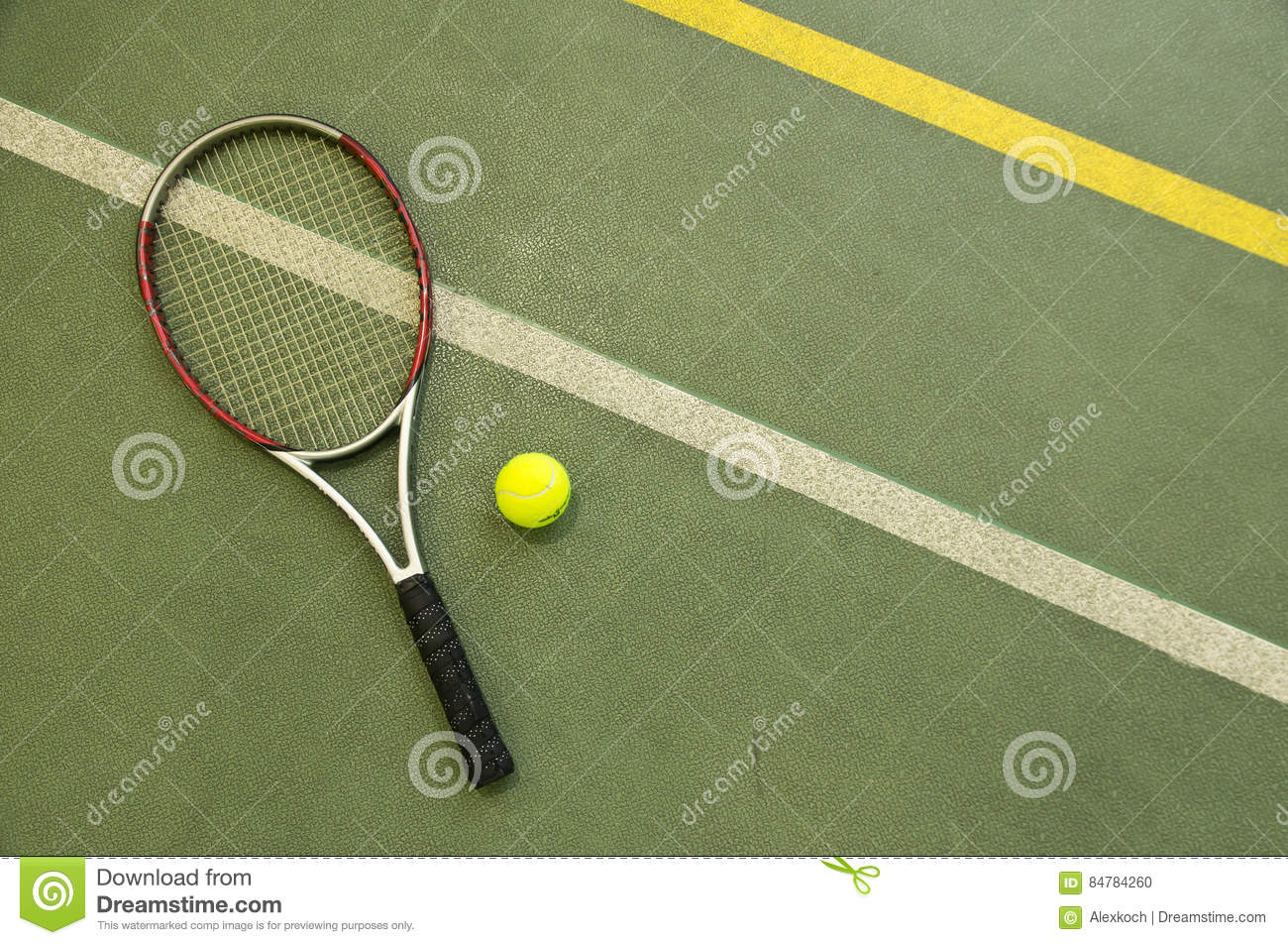 Tennis racket and ball. Wallpaper.