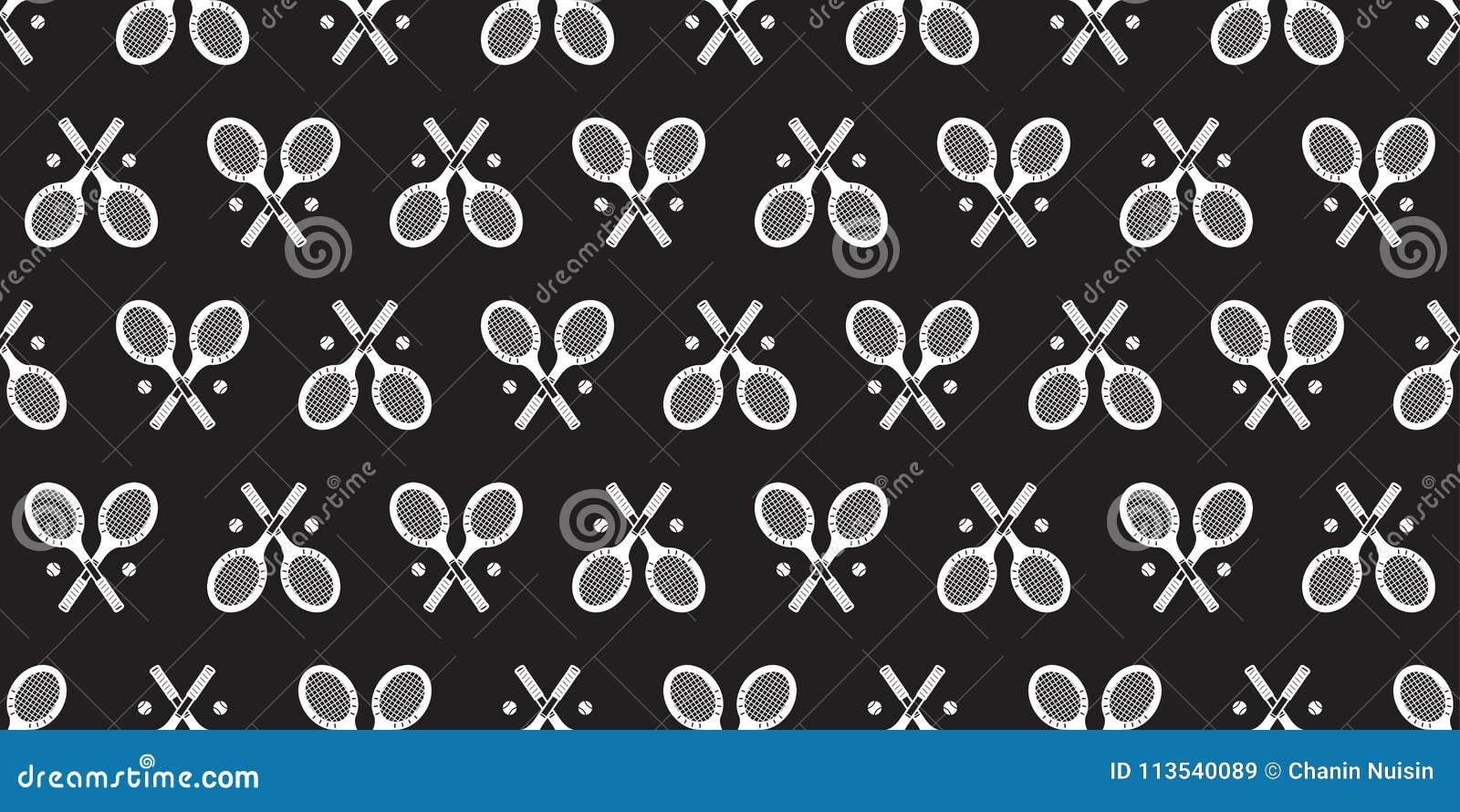 Pattern For Sport Wallpaper: Tennis Racket Seamless Pattern Vector Ball Badminton