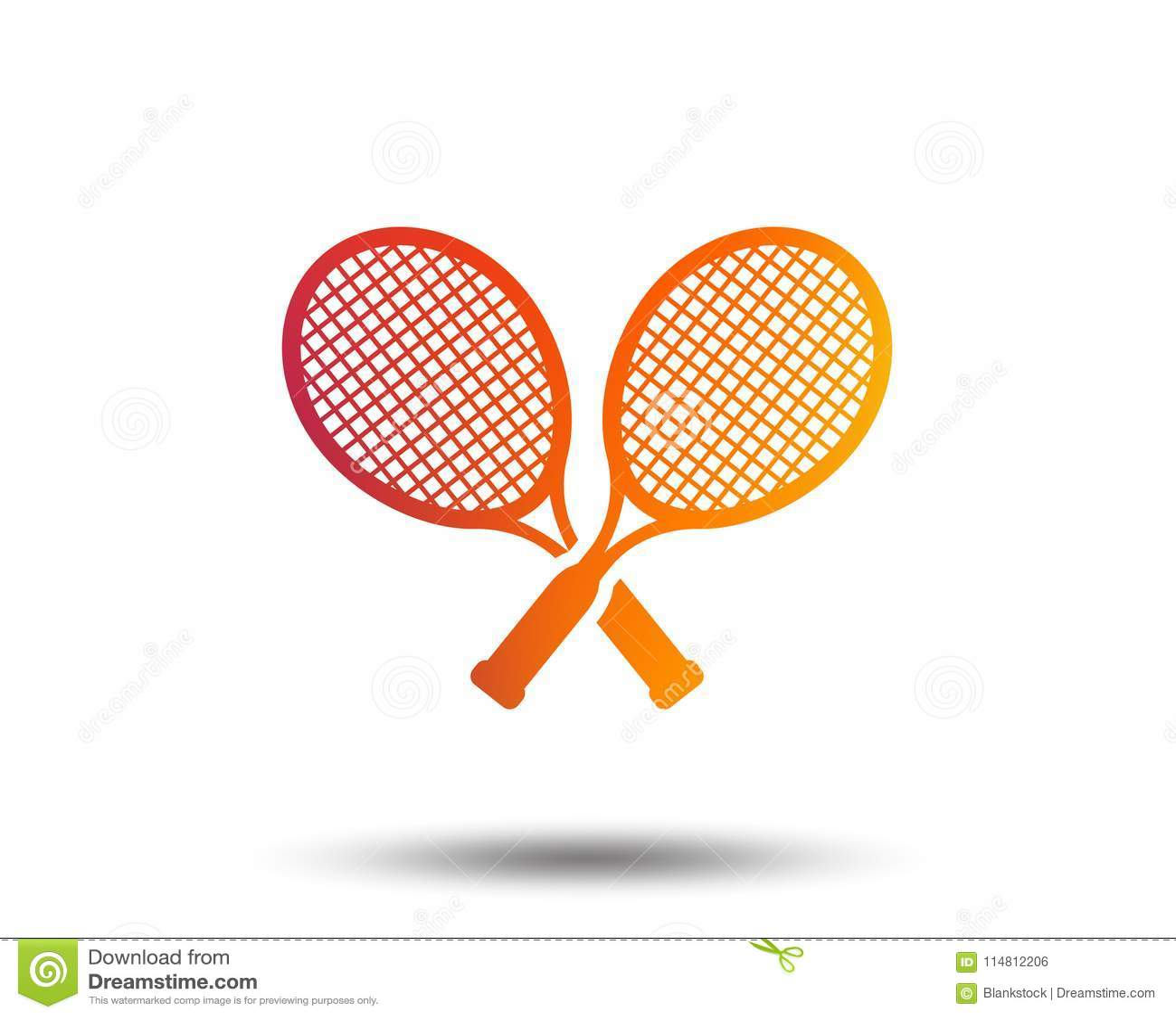 Tennis Rackets Sign Icon Sport Symbol Stock Vector Illustration