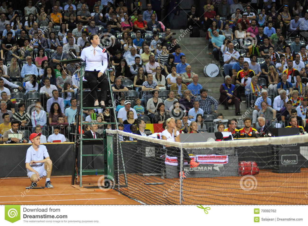 Tennis referee chair umpire editorial photography image for Chair of the fed game