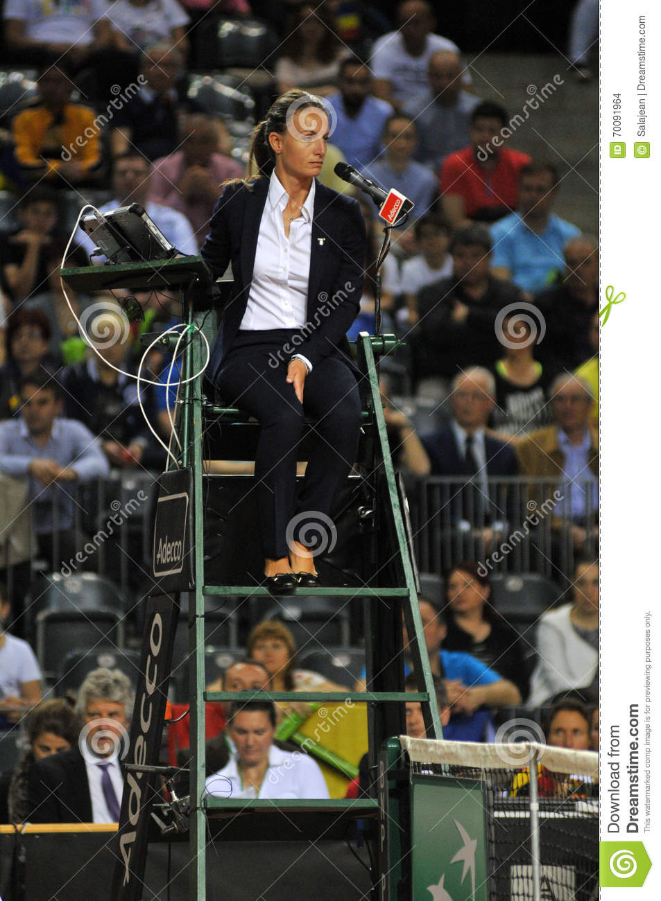 Tennis referee chair umpire editorial stock image image for Chair of the fed game