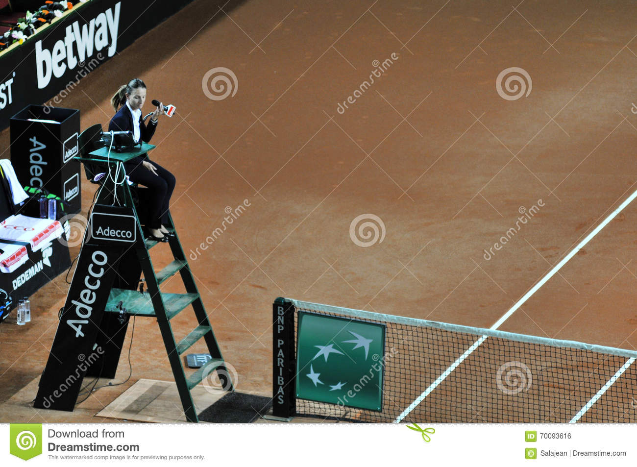 Tennis referee chair umpire editorial photo image 70093616 for Chair of the fed game