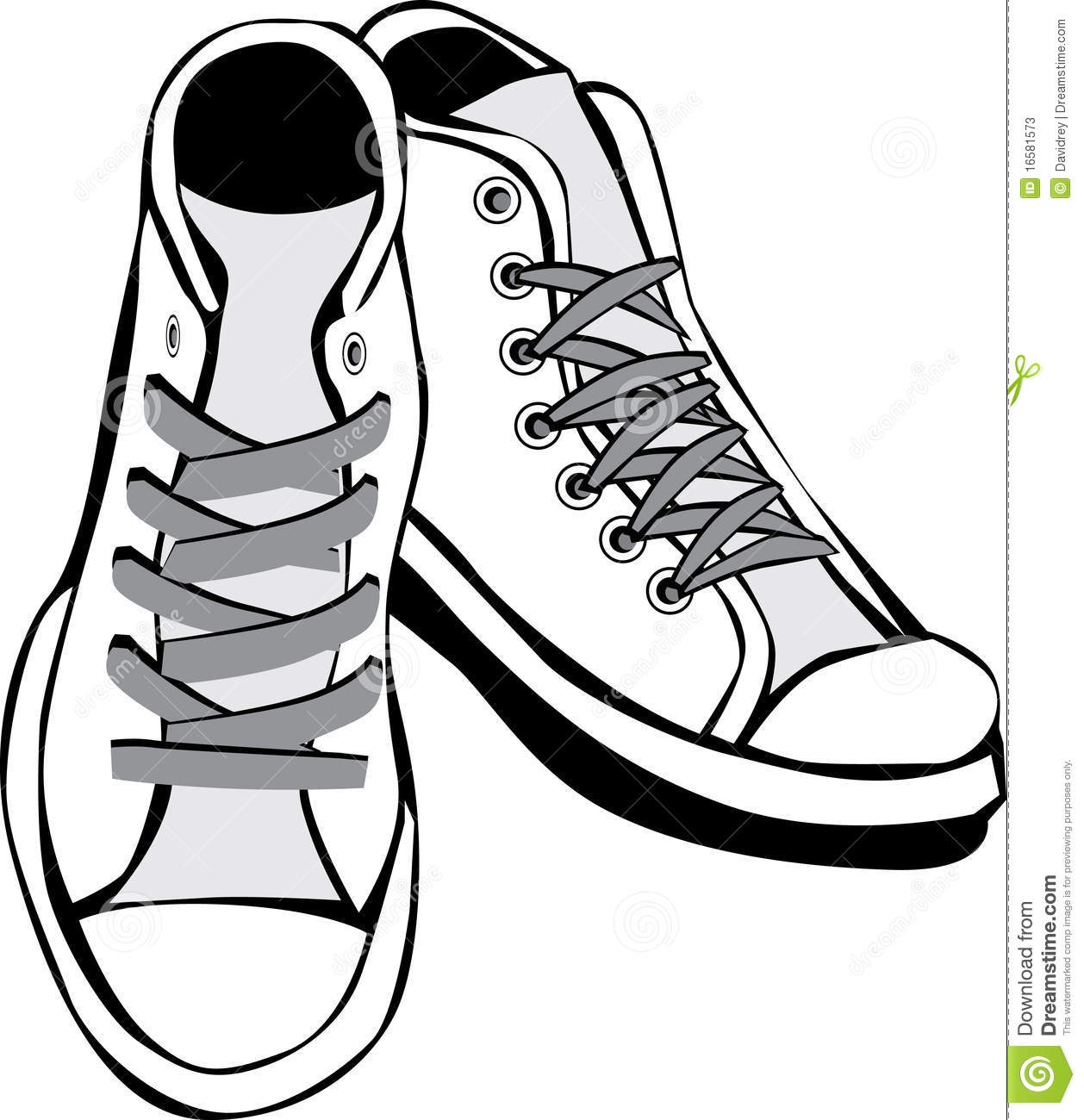 Tennis shoes stock vector. Illustration of footwear, drawing