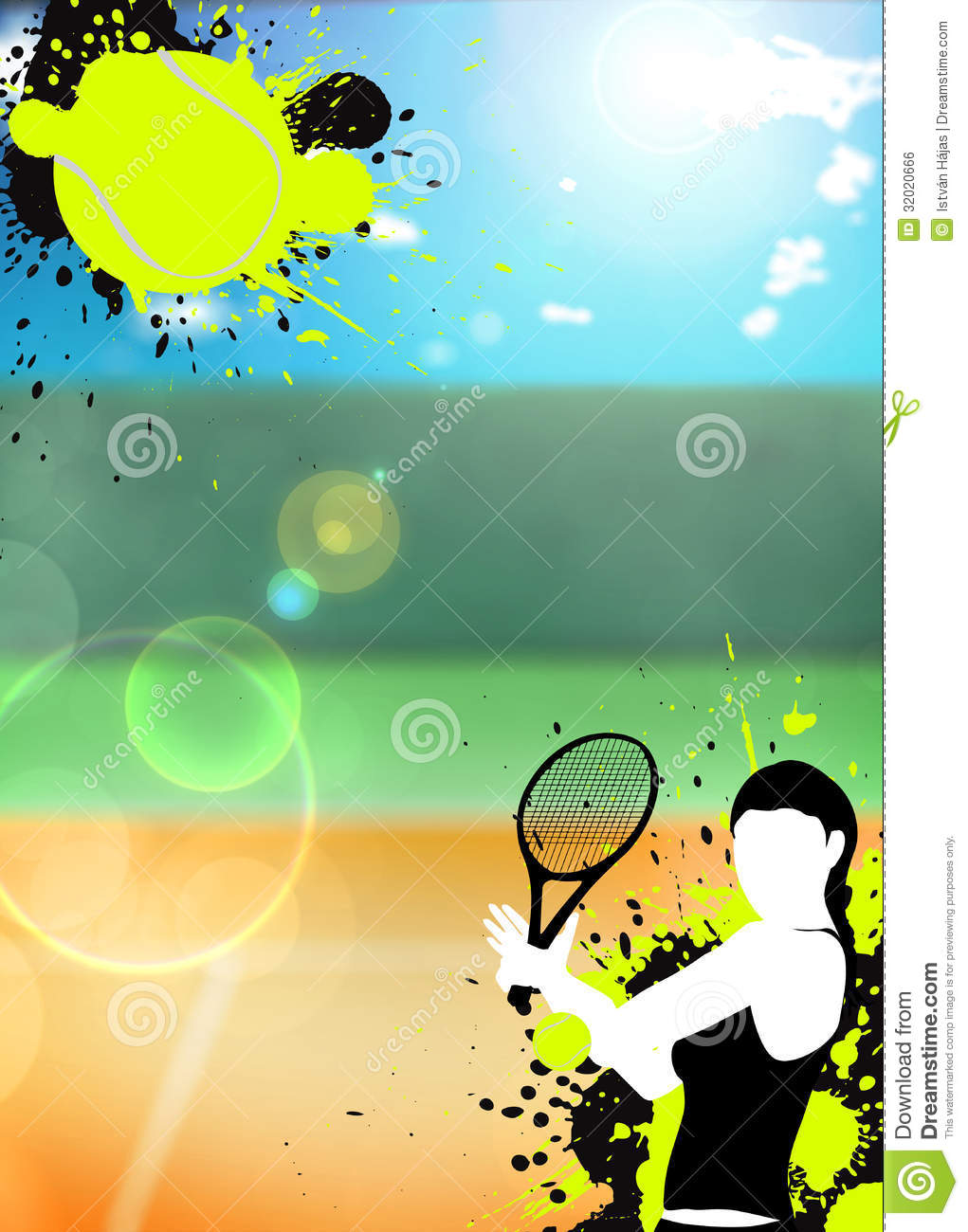 Tennis Sport Background Royalty Free Stock Image - Image: 32020666