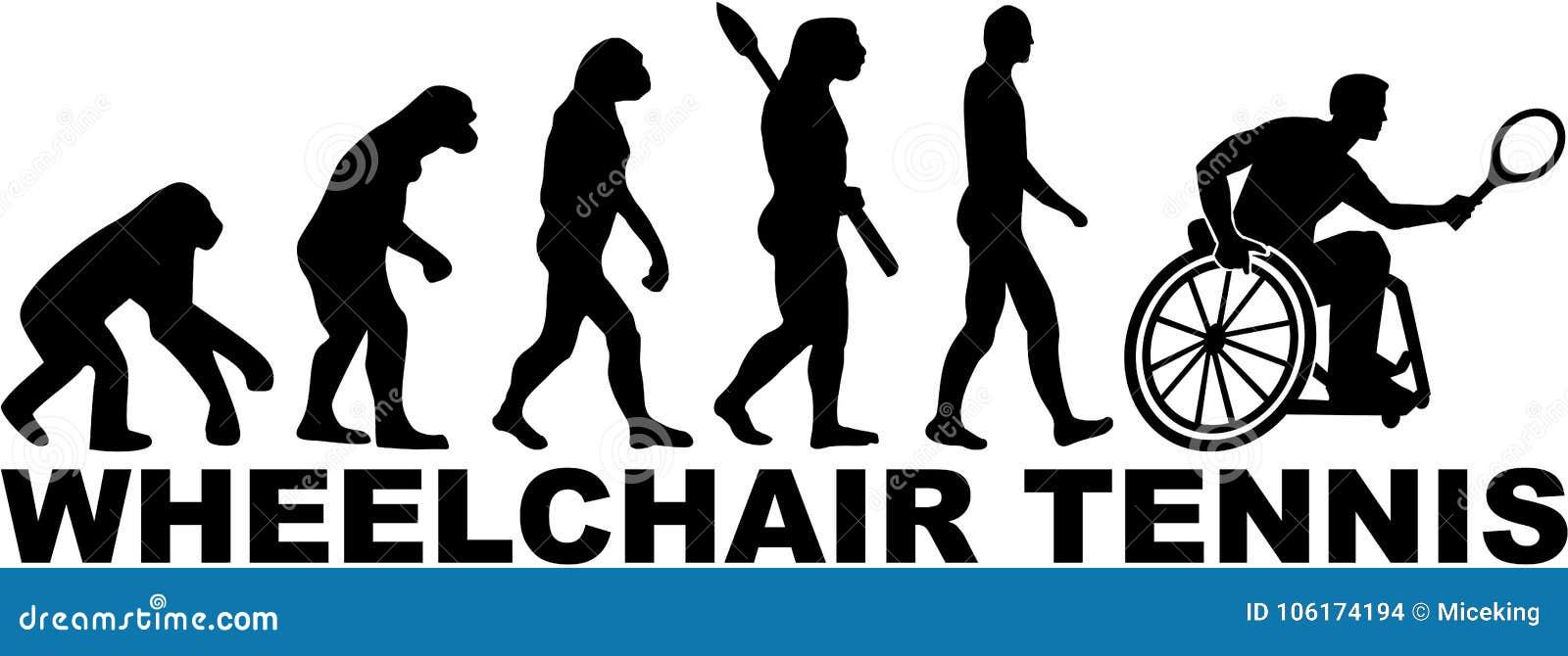 Tennis Su Sedia A Rotelle Di Evoluzione Illustrazione