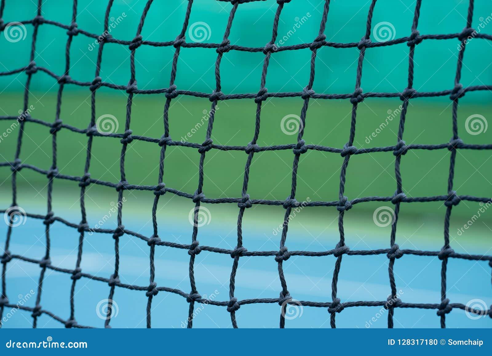 Tennisbaan met netto