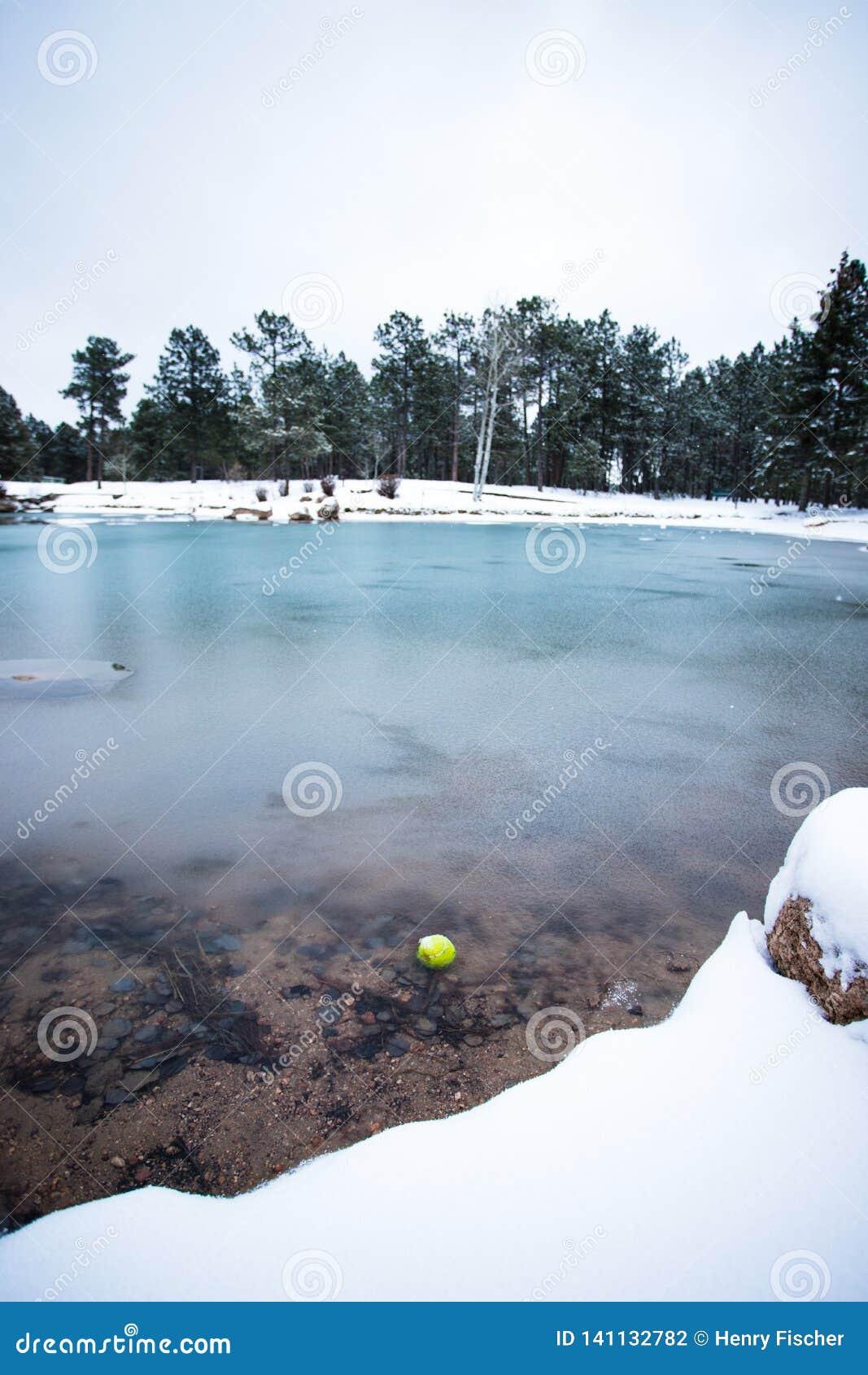 Tennisbal in een Meer