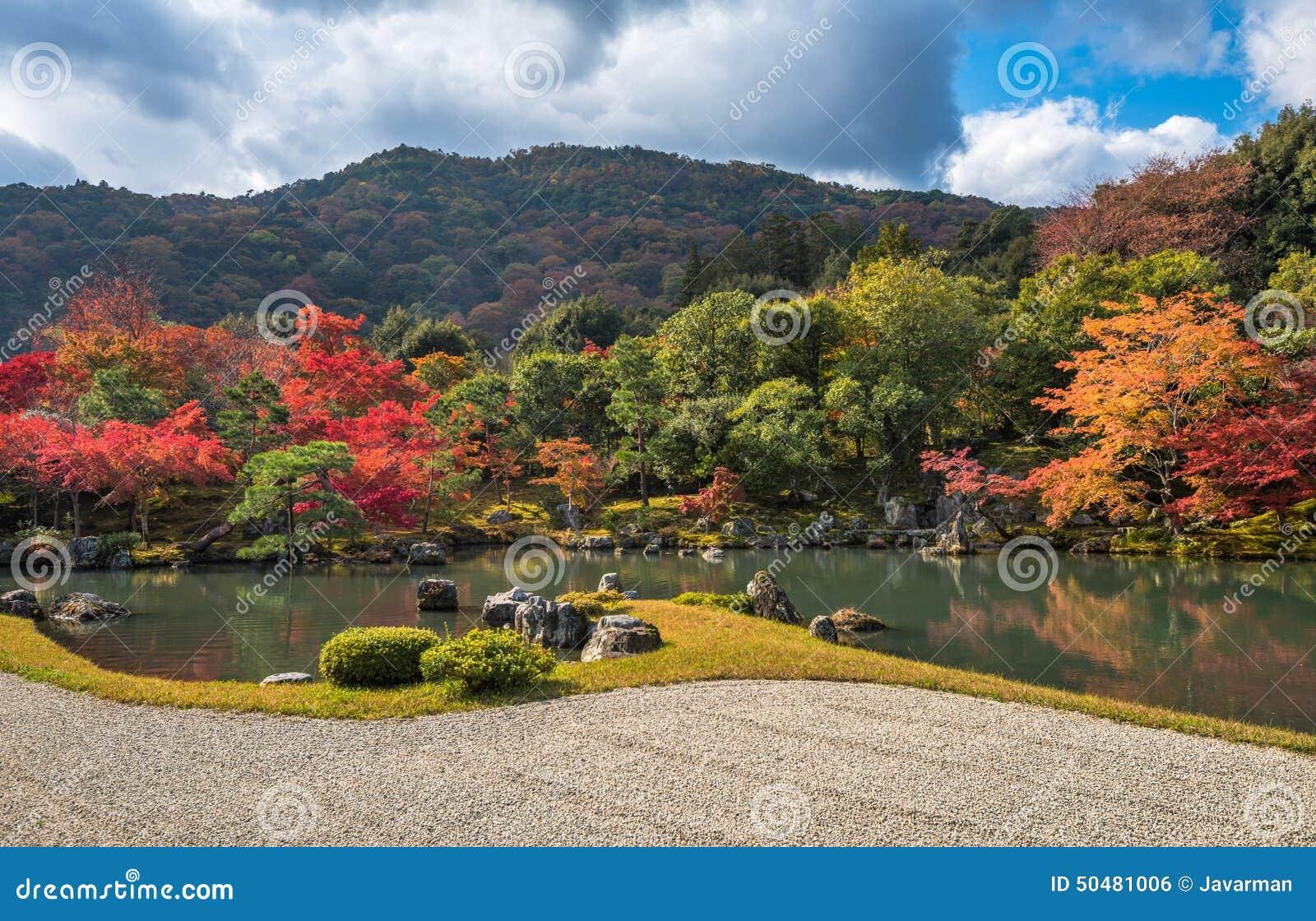 Tenryu-ji Garden In Fall, Arashiyama, Kyoto, Japan Stock Photo ...