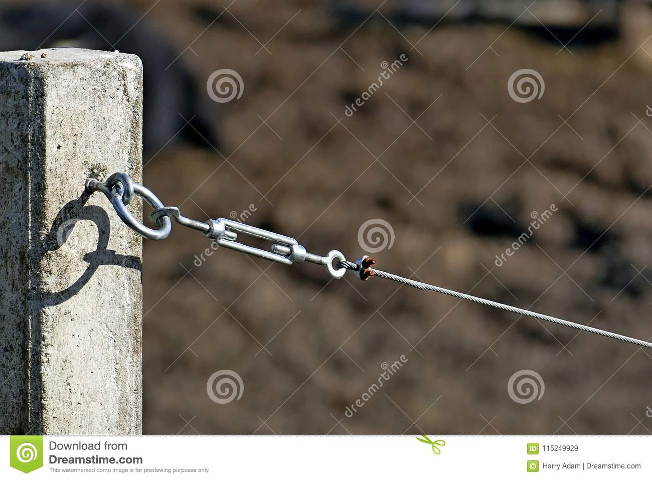 Tension hook with wire rope