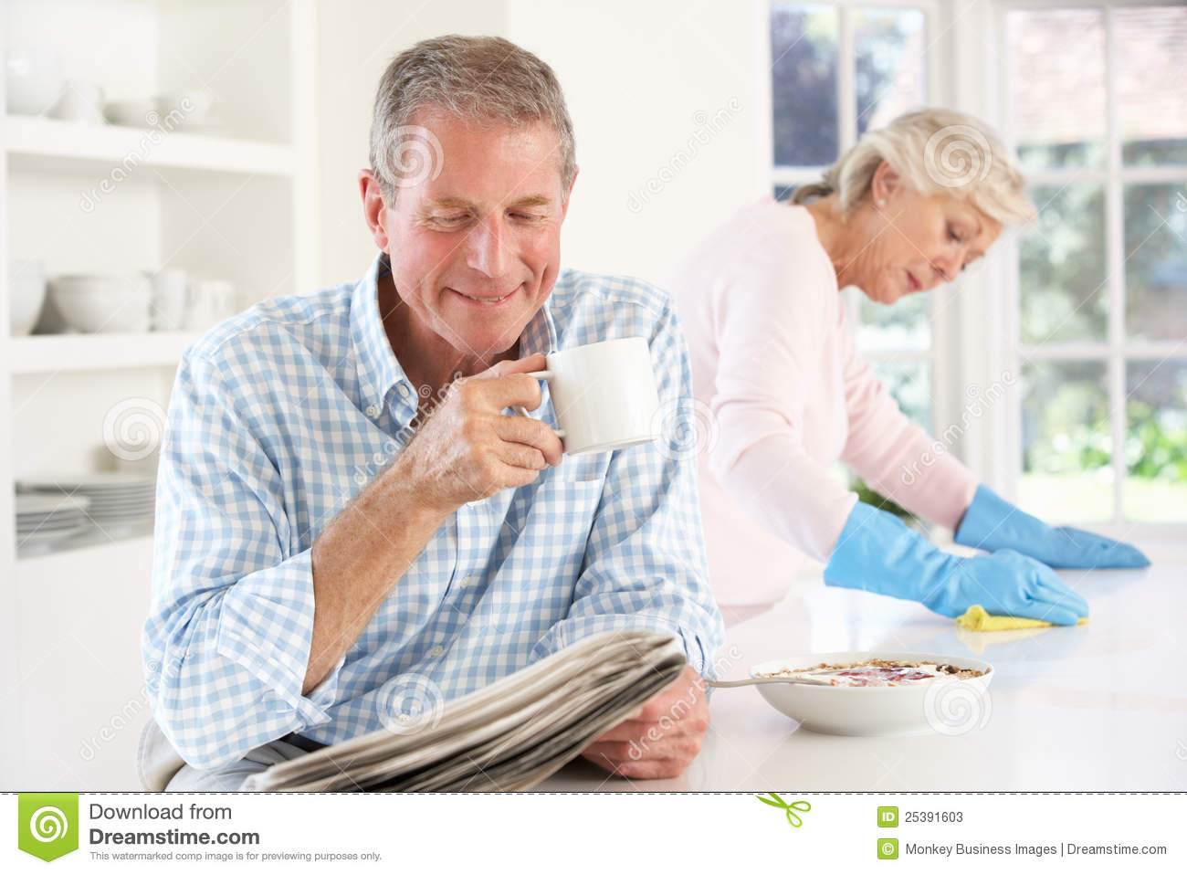 Tension Between Retired Couple Stock Photos Image 25391603