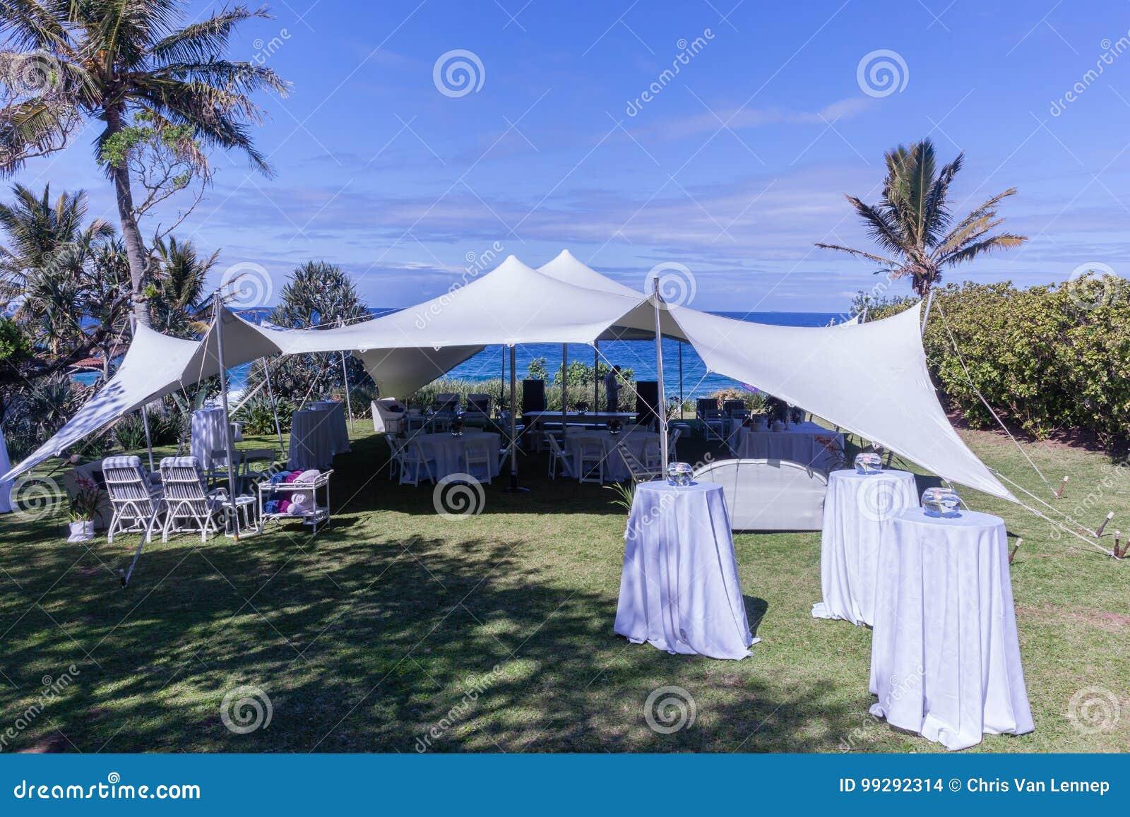 Tent Bedouin Chairs Wedding Ocean Venue Stock Photo - Image