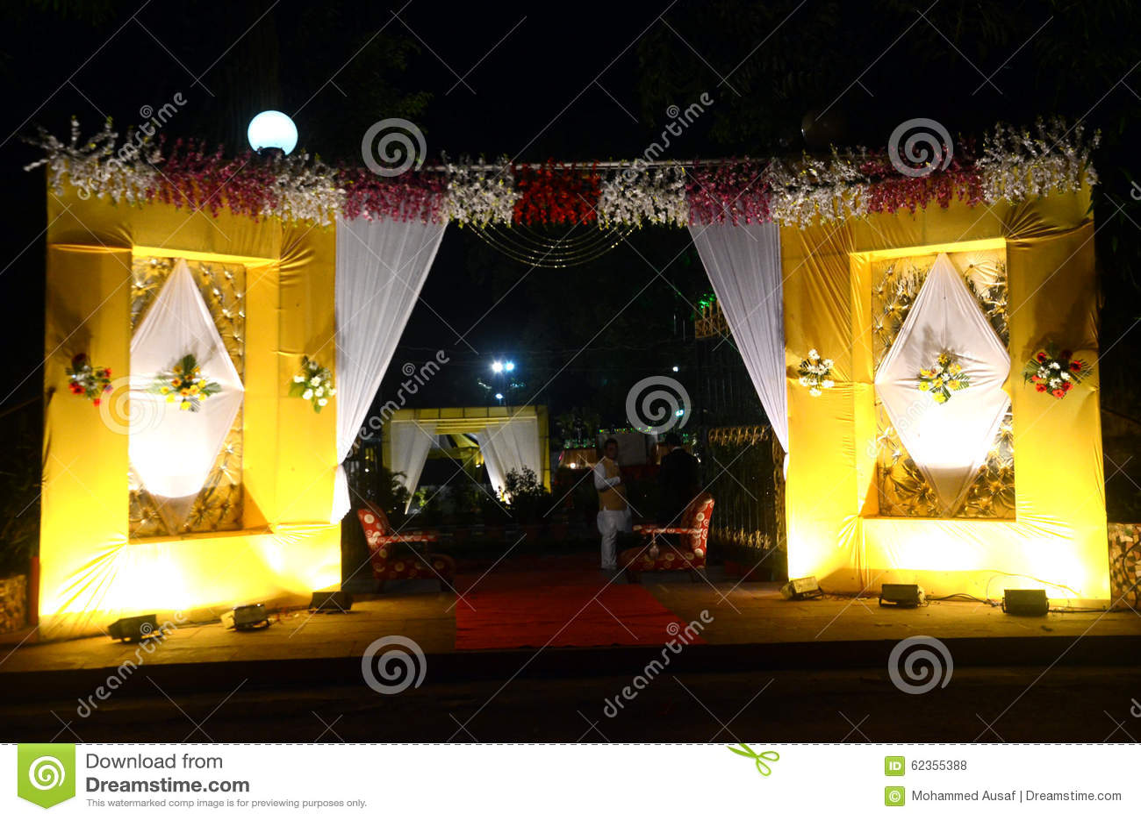 tent decoration set stock photo - image: 62355388
