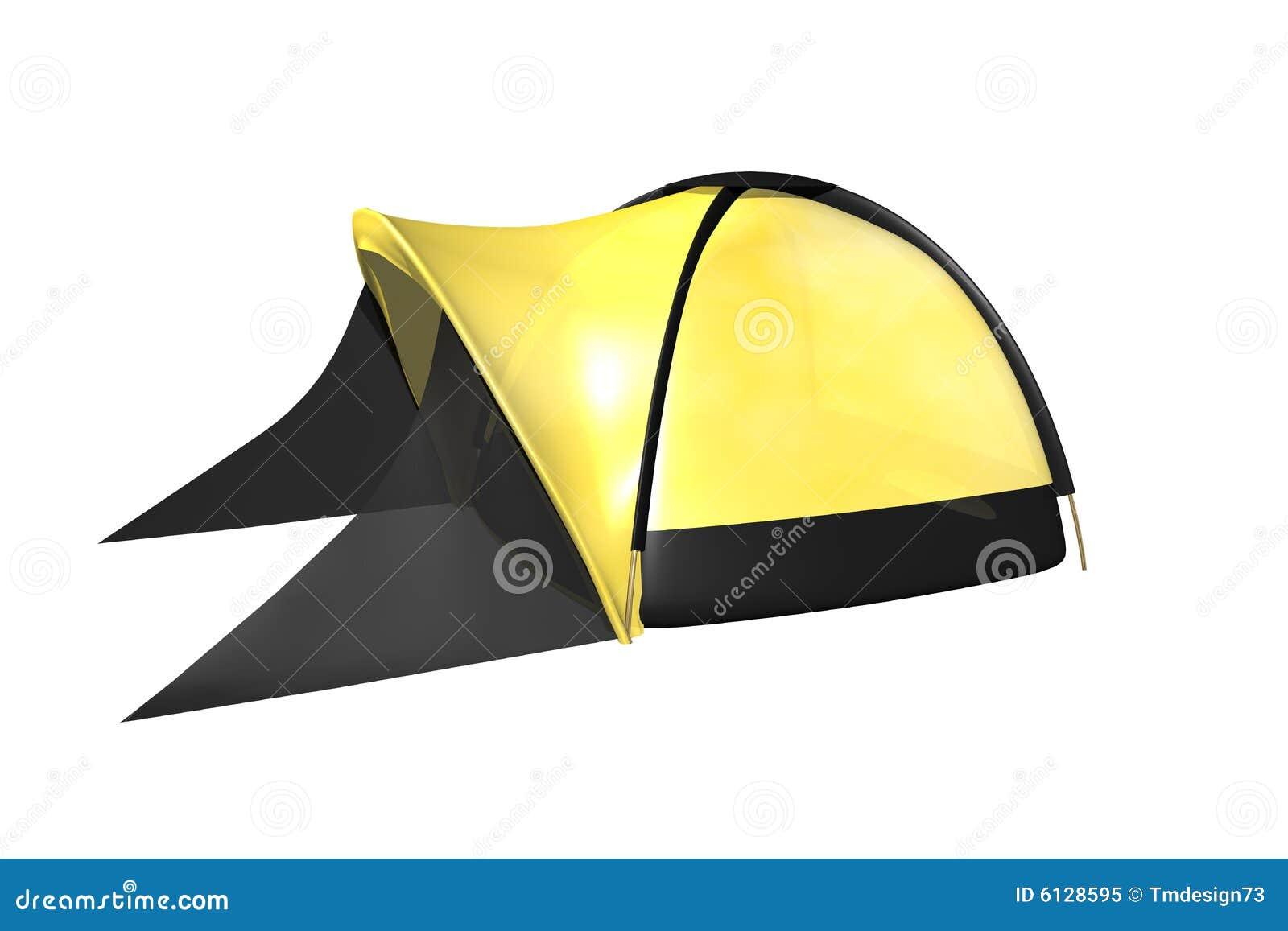 Tent Isolated On White Background Stock Illustration