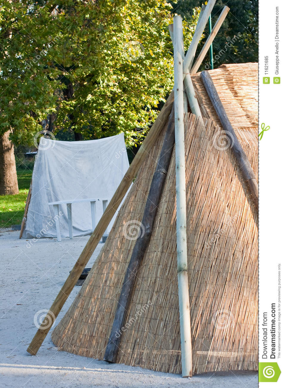 Tent Of Straw And Wood Royalty Free Stock Photo Image
