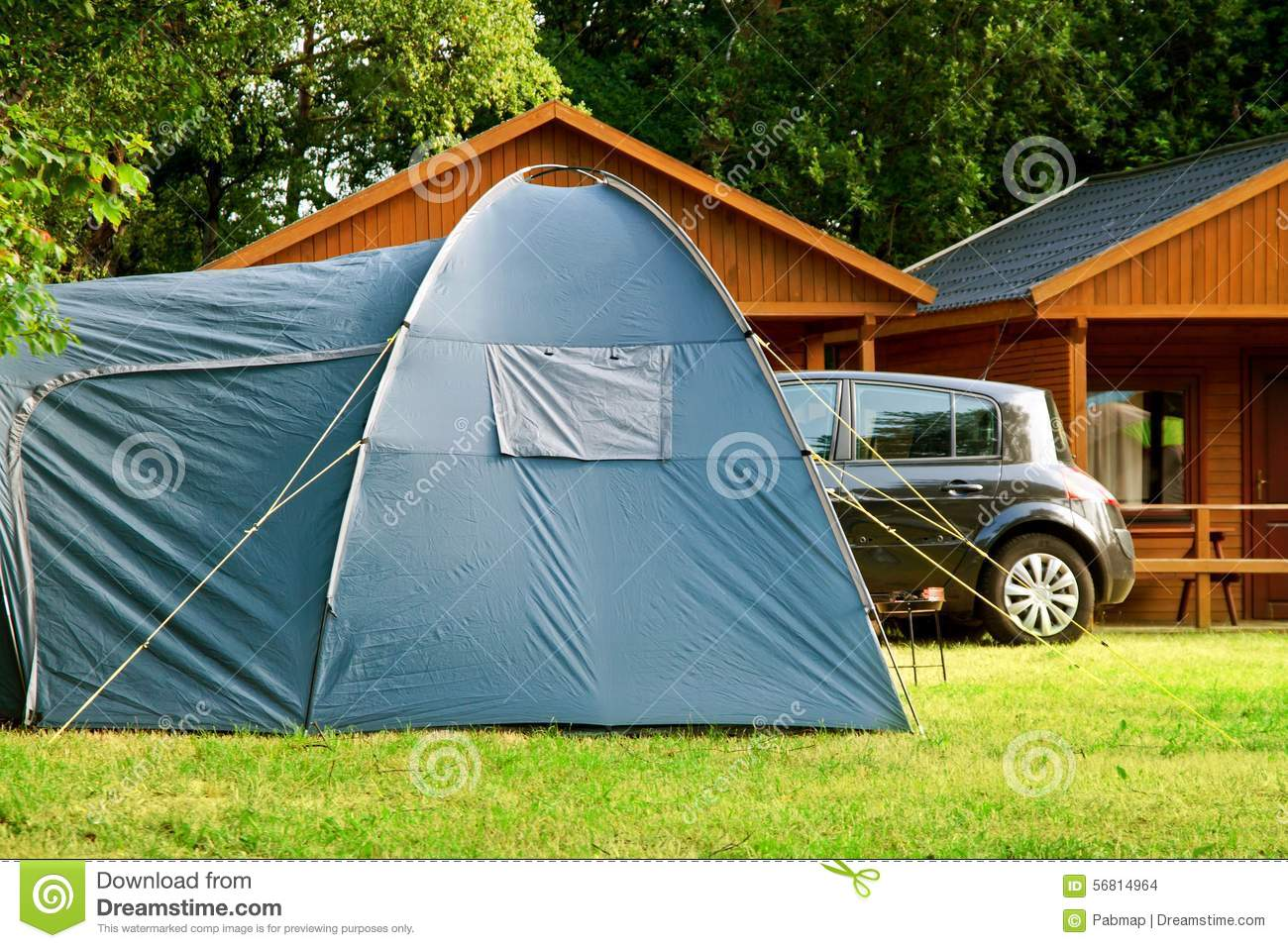 Tent house cartoon vector 25874355 for Tent a house
