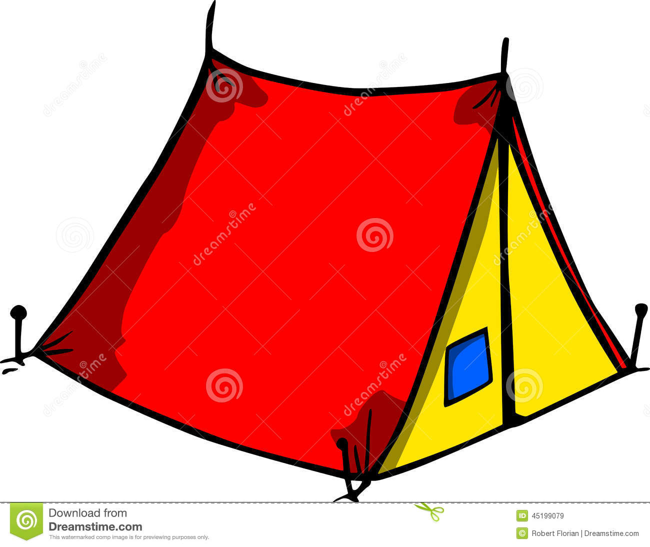 Tent stock vector. Image of mountaineering, entrance ...