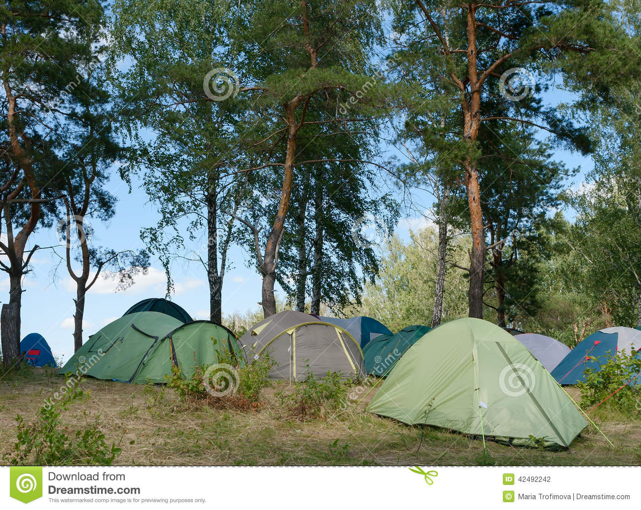 Tent town. & Tent town. stock photo. Image of recreation affordable - 42492242