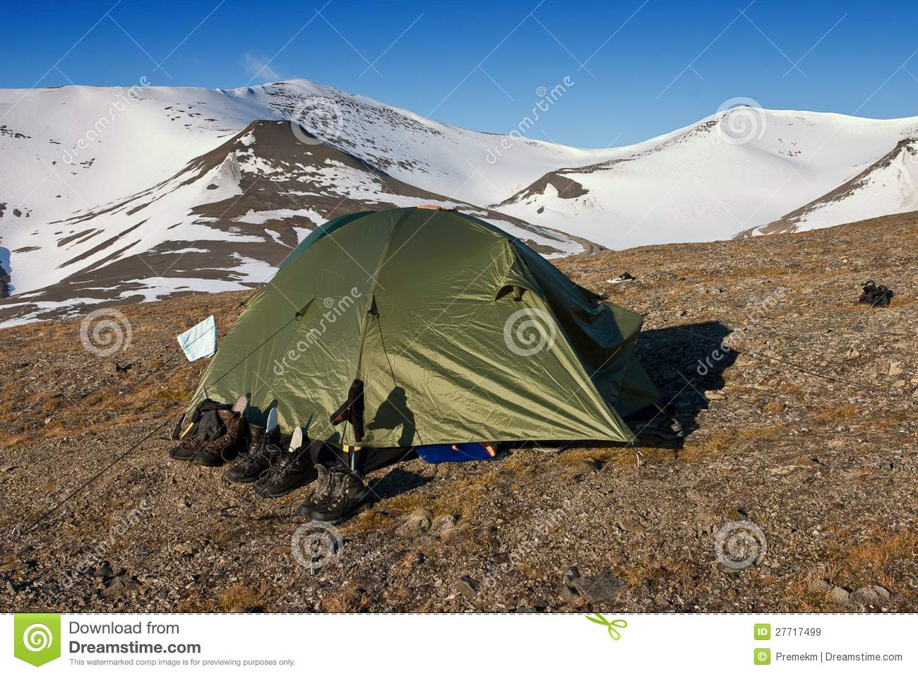 Royalty-Free Stock Photo & A Tent In Tundra In Svalbard Stock Image - Image of green extreme ...