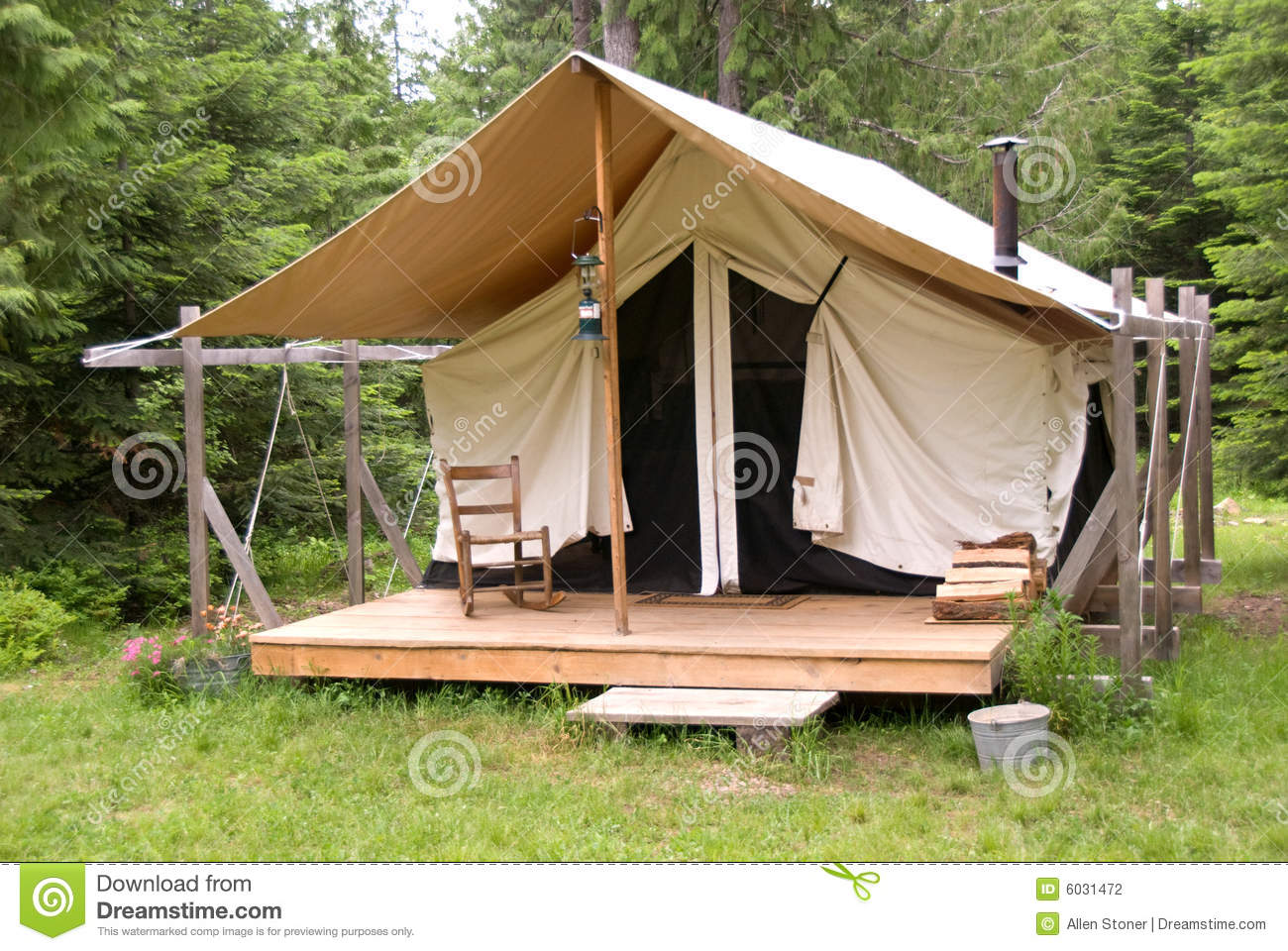 Tent In Woods Stock Photography Image 6031472